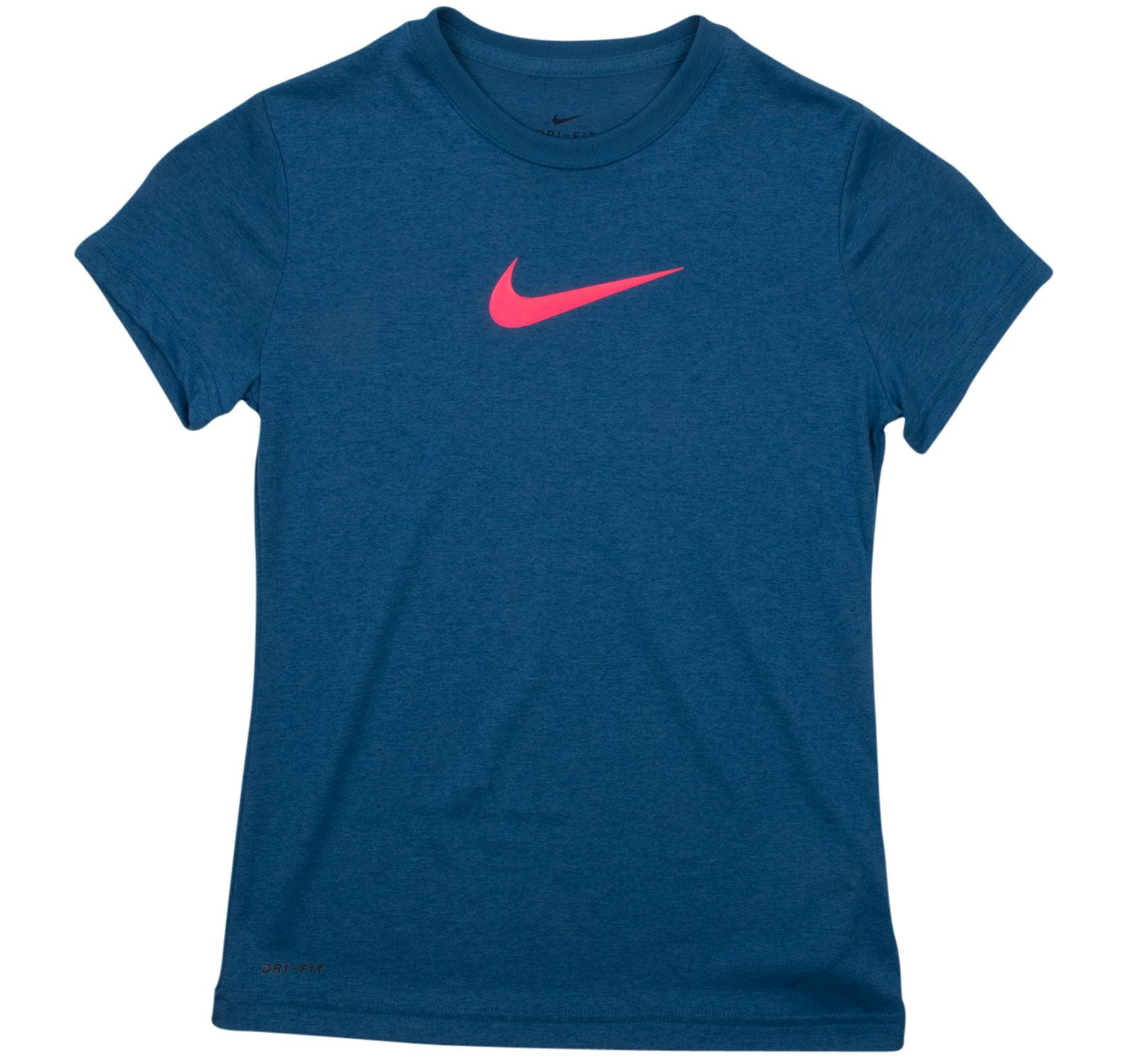 Legend Ss Top Yth, Industrial Blue/Racer Pink, L,  Nike