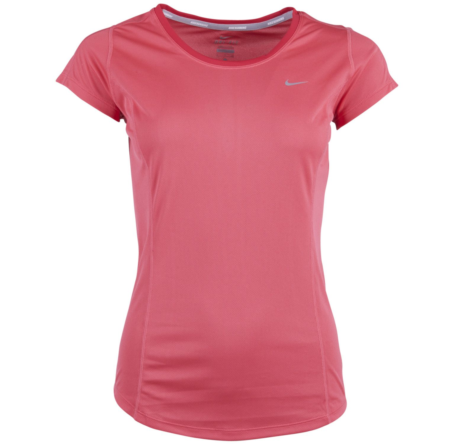Racer Ss Top, Geranium/Legion Red/Reflective, S,  Nike