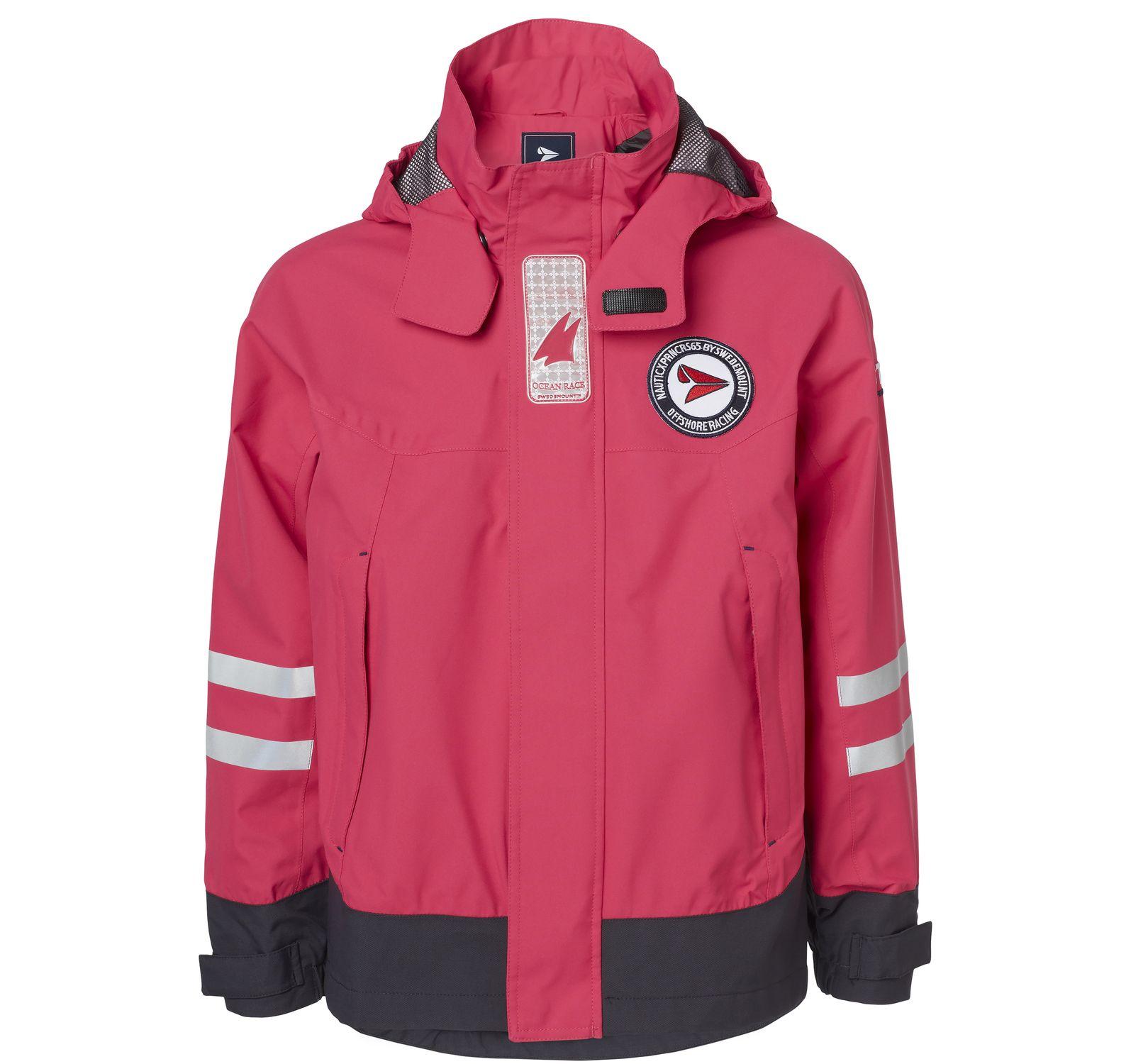 latitude jacket jr, dk pink, 120, regnkläder
