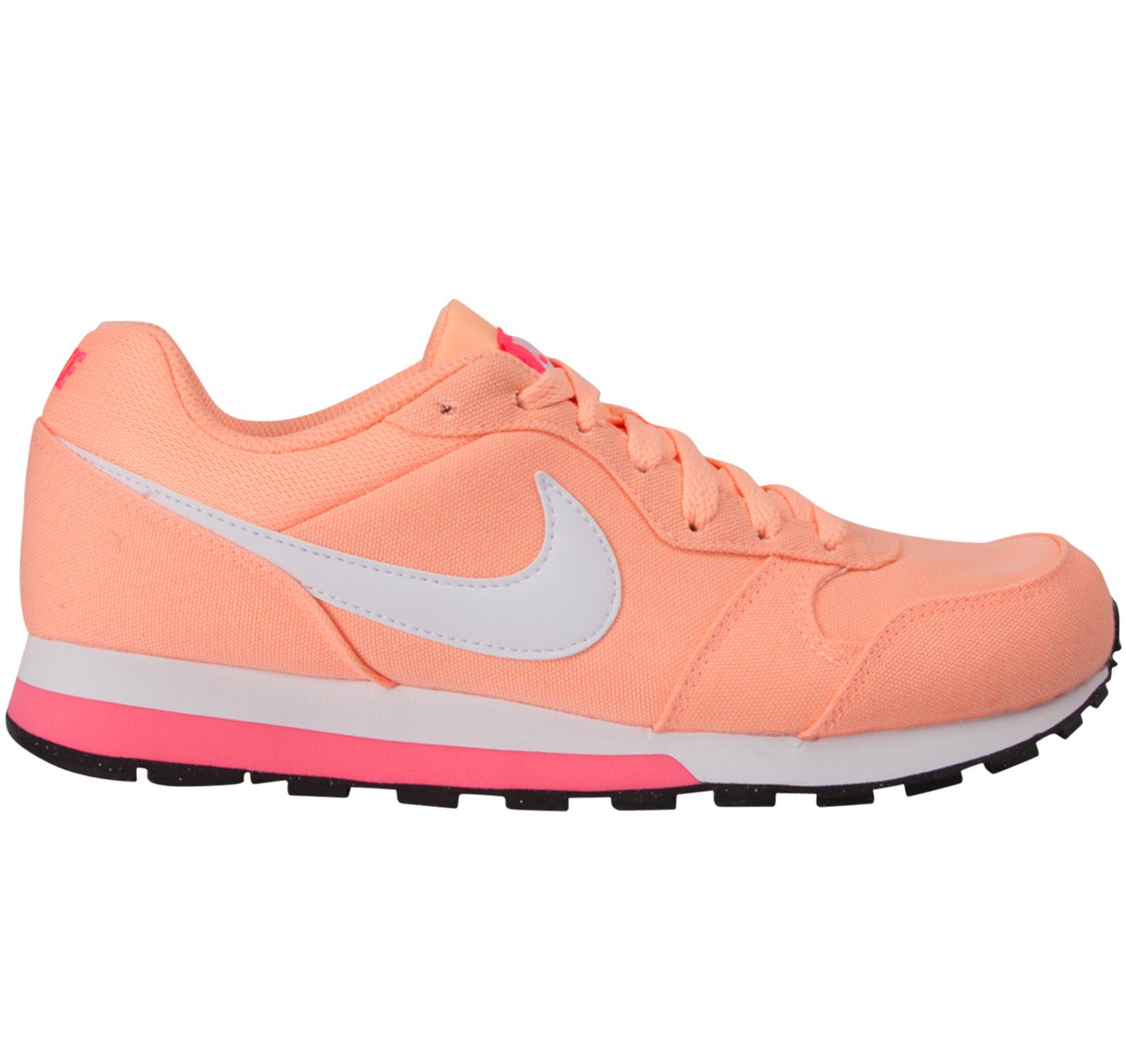 Wmns Nike Md Runner 2, Sunset Glow/White-Racer Pink, 36