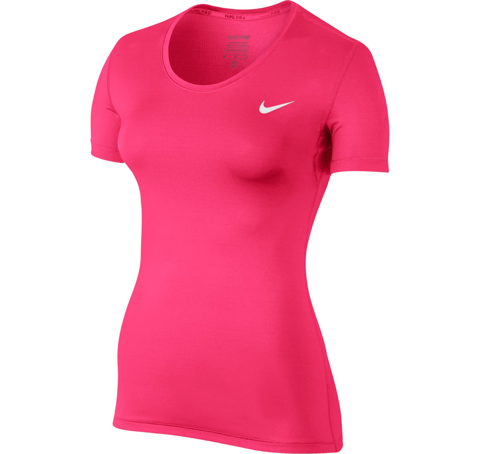W Np Top Ss, Racer Pink/White, L,  Nike