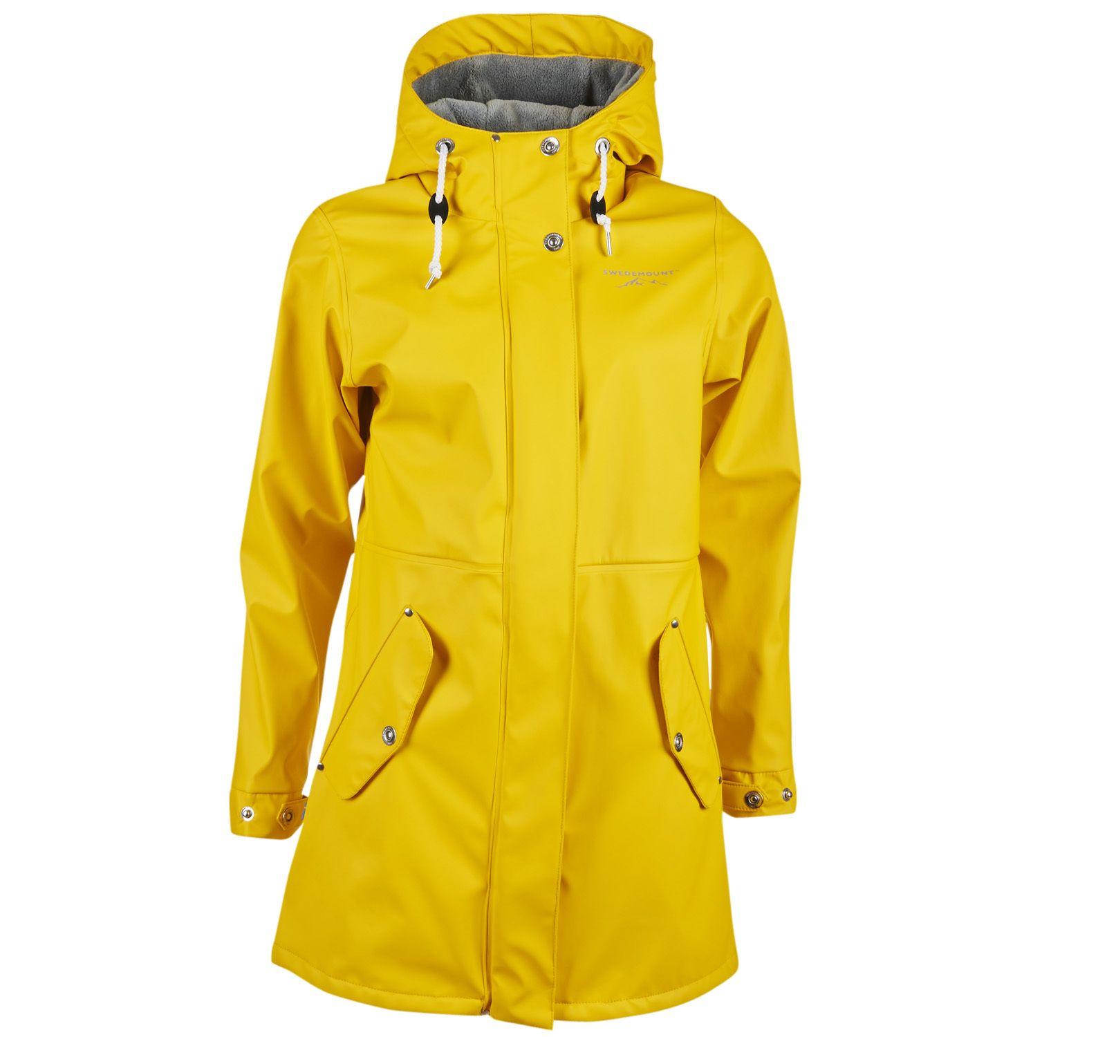 lammö coat w, yellow, 34, regnkläder