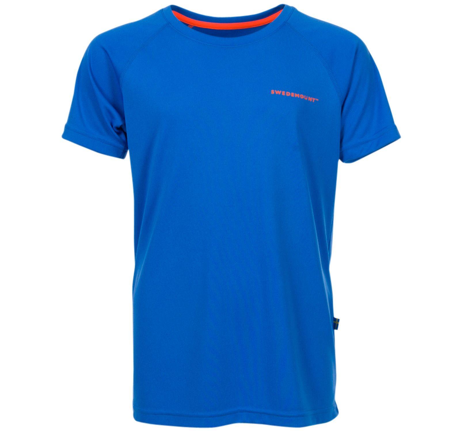 Active Tee Jr, Blue Melange/Orange, 140,  T-Shirts Och Linnen