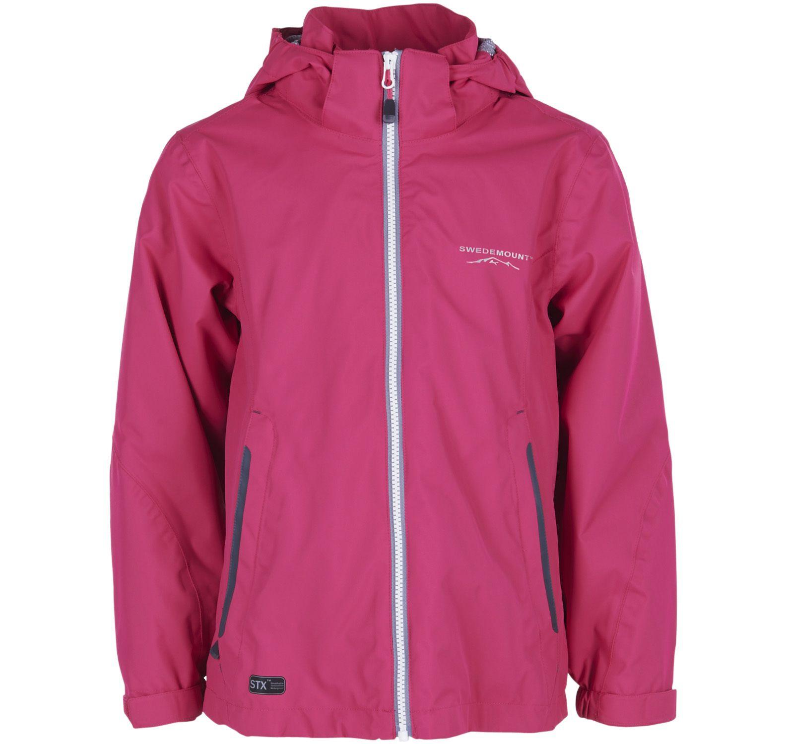 hamburgsund jacket jr, dk pink, 130, regnkläder