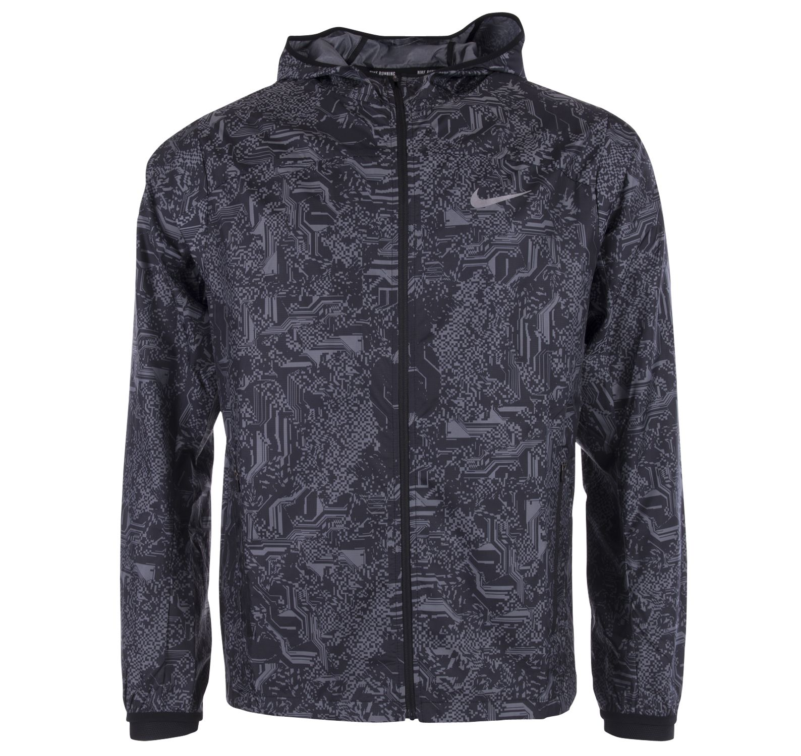 M Nk Shld Jkt Hd Racer Pr, Black/Cool Grey/Reflective Sil, Xxl,  T-Shirts