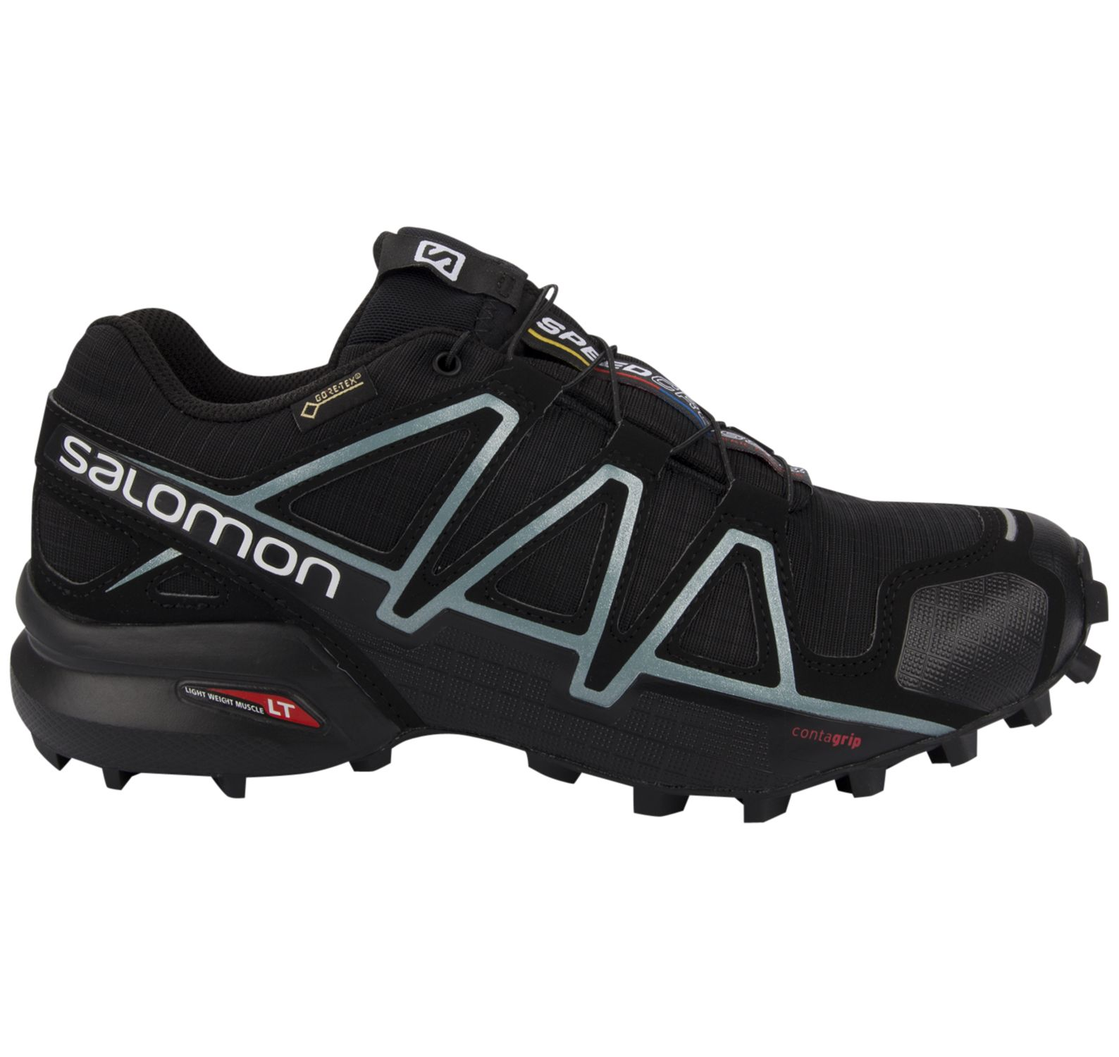 speedcross 4 gtx® w, black/black/metallicbubbleblue, 37 1/3