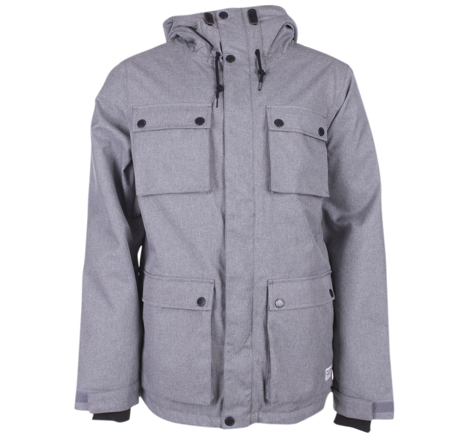 clwr cargo jacket, grey melange, l,  wearcolour