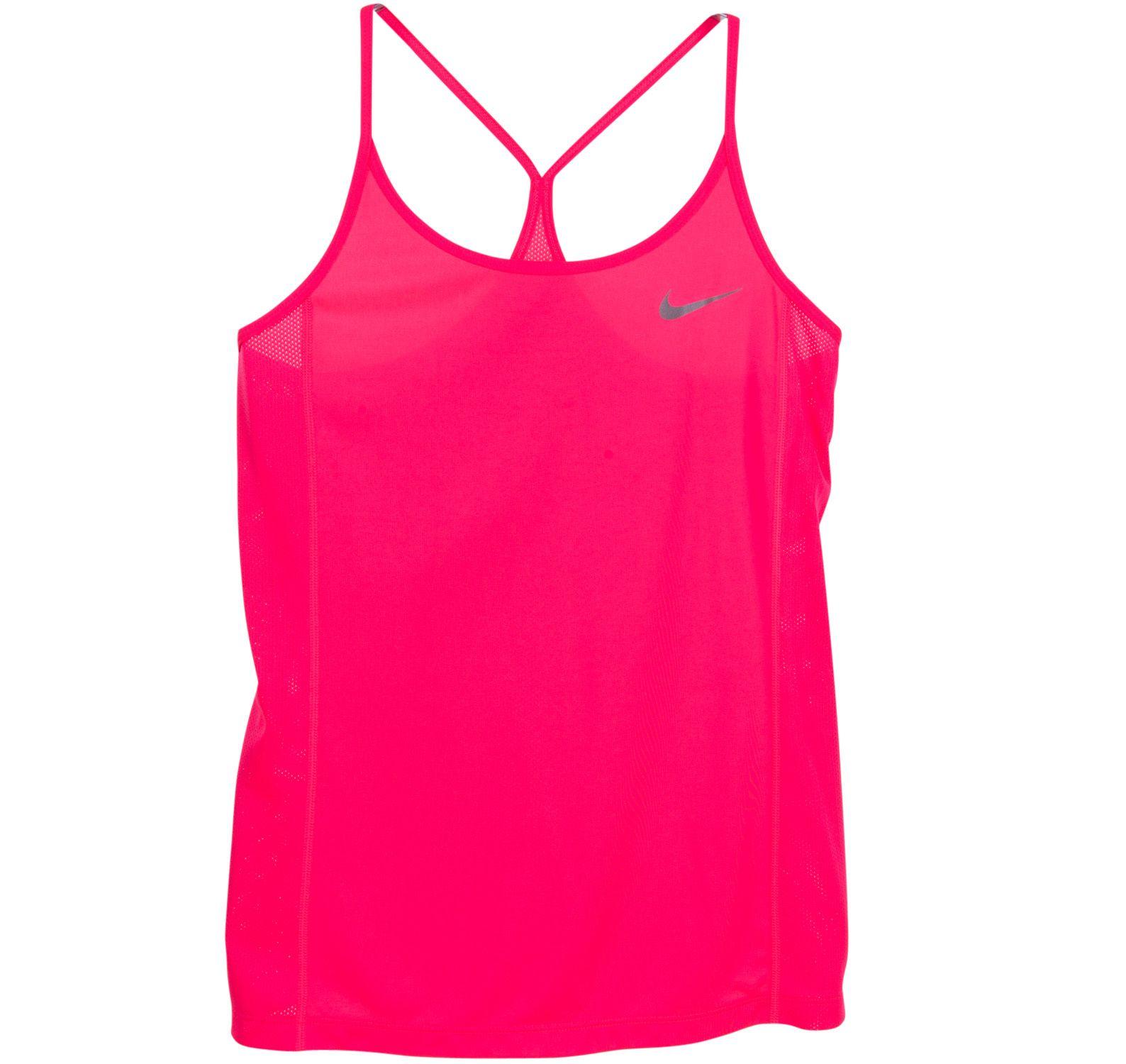 W Nk Dry Miler Tank, Racer Pink/Racer Pink, S,  Nike