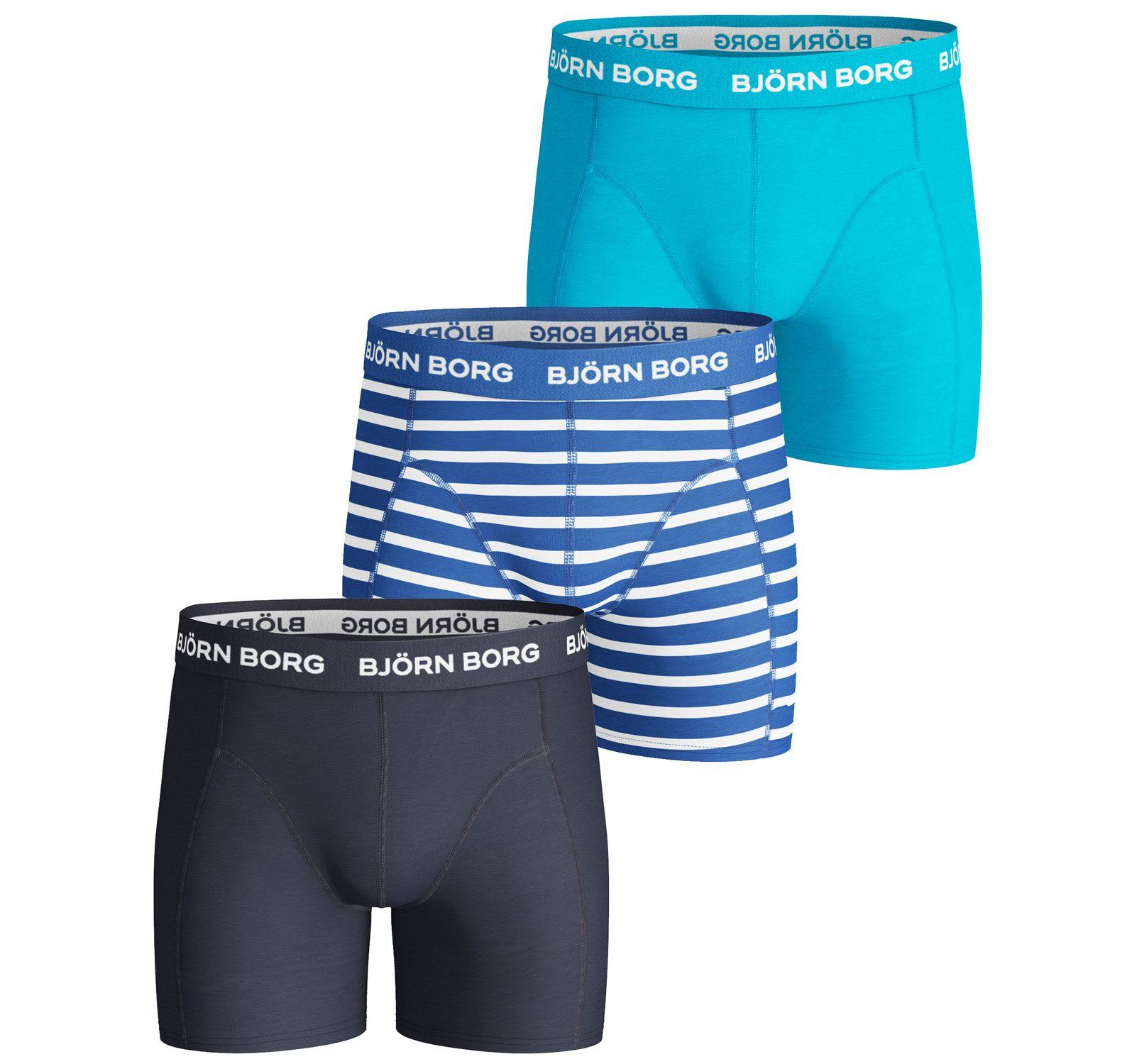 3p Shorts Bb Stripe, Directoire Blue, 110-116,  Björn Borg