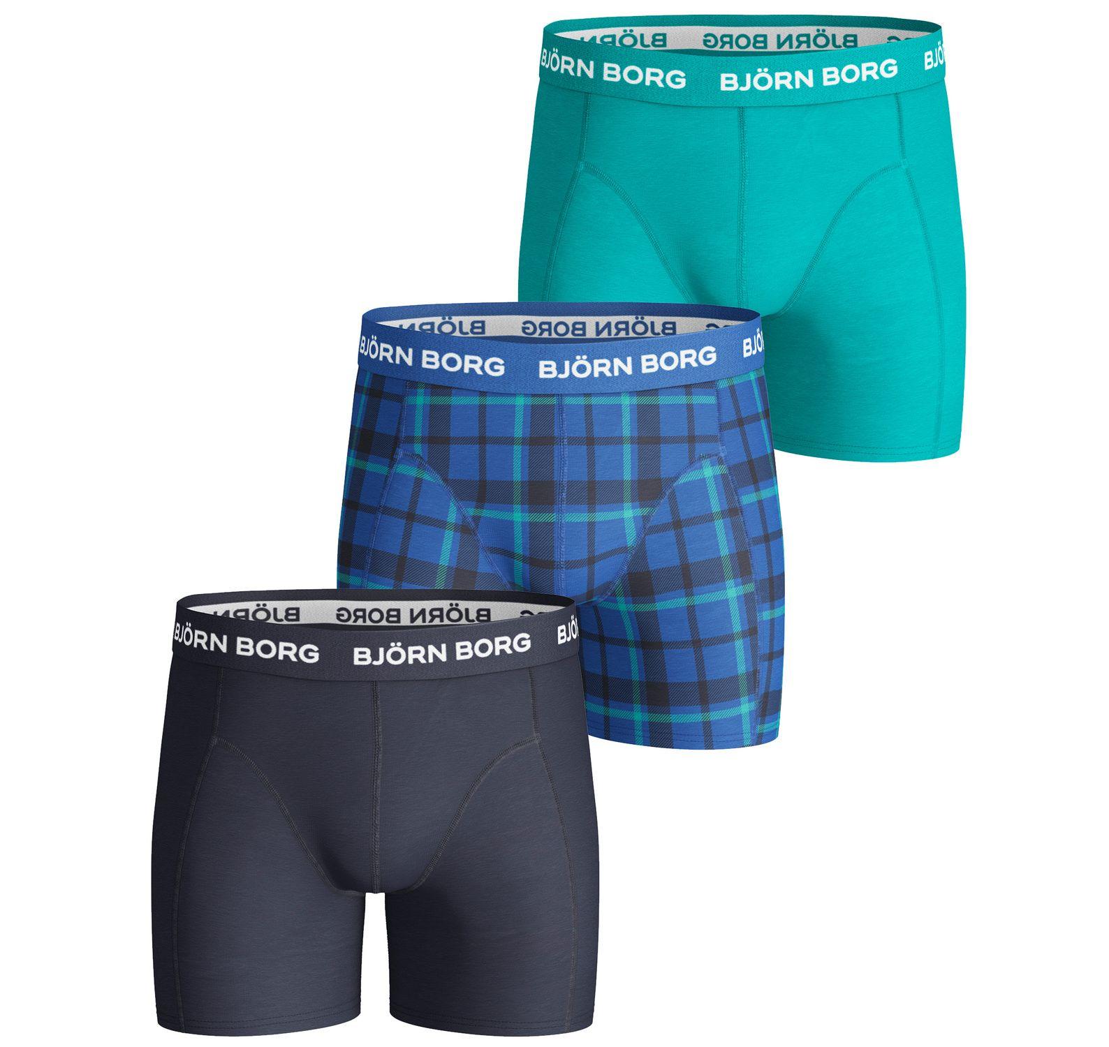 3p shorts bb check, directoire blue, 134-140,  björn borg