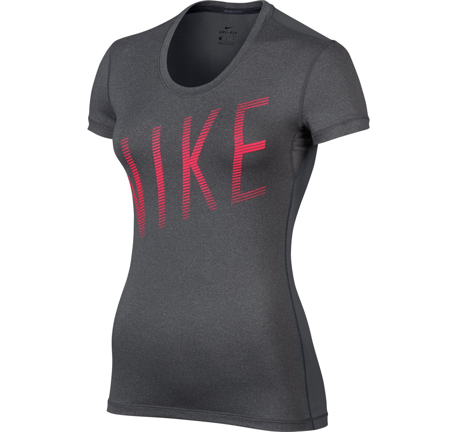W Np Cl Top Ss Summer Grx, Dark Grey/Htr/Racer Pink, M,  T-Shirts