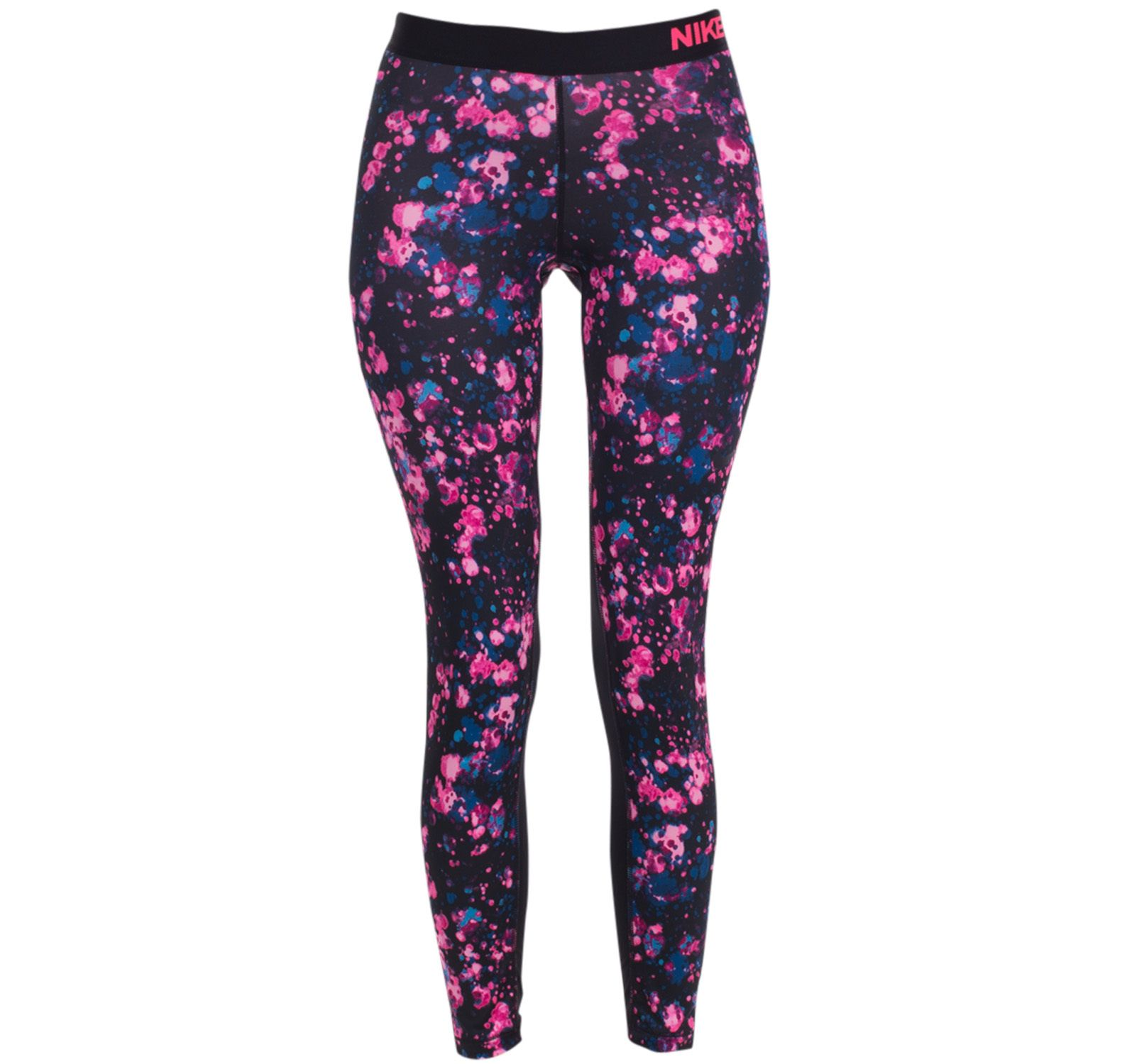 W Np Cl Tght Microcosm, Racer Pink/White, L,  Nike