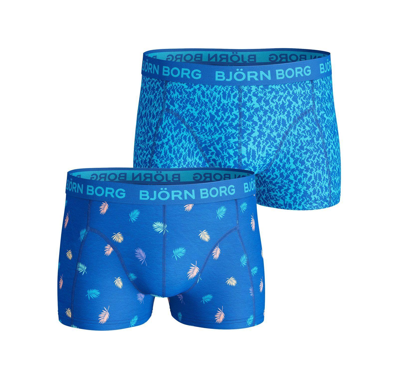 2p Short Shorts Bb Multi Palm, Directoire Blue, Xs,  Björn Borg