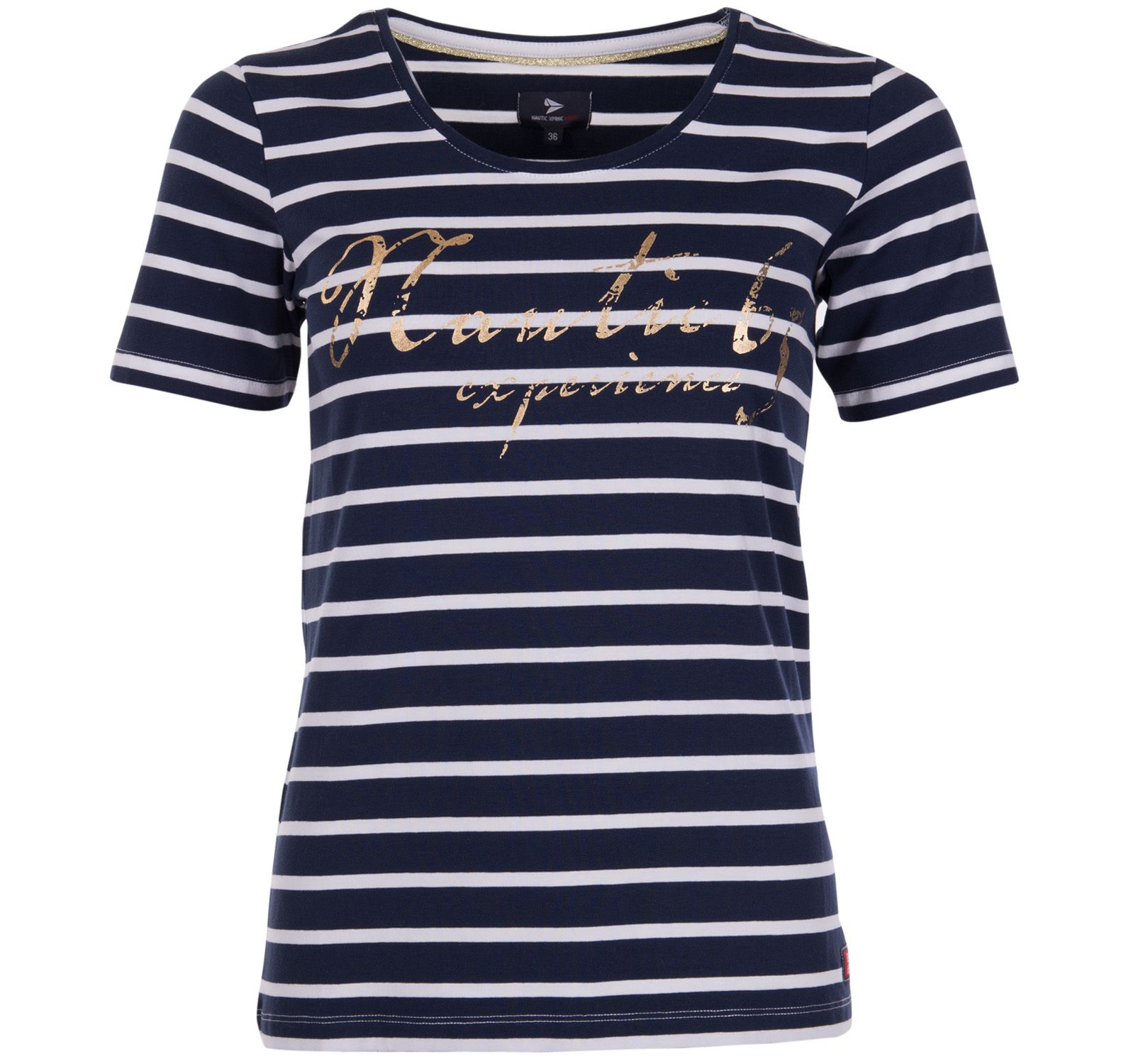styrsö tee w, navy/white, 34,  nautic xprnc rs65