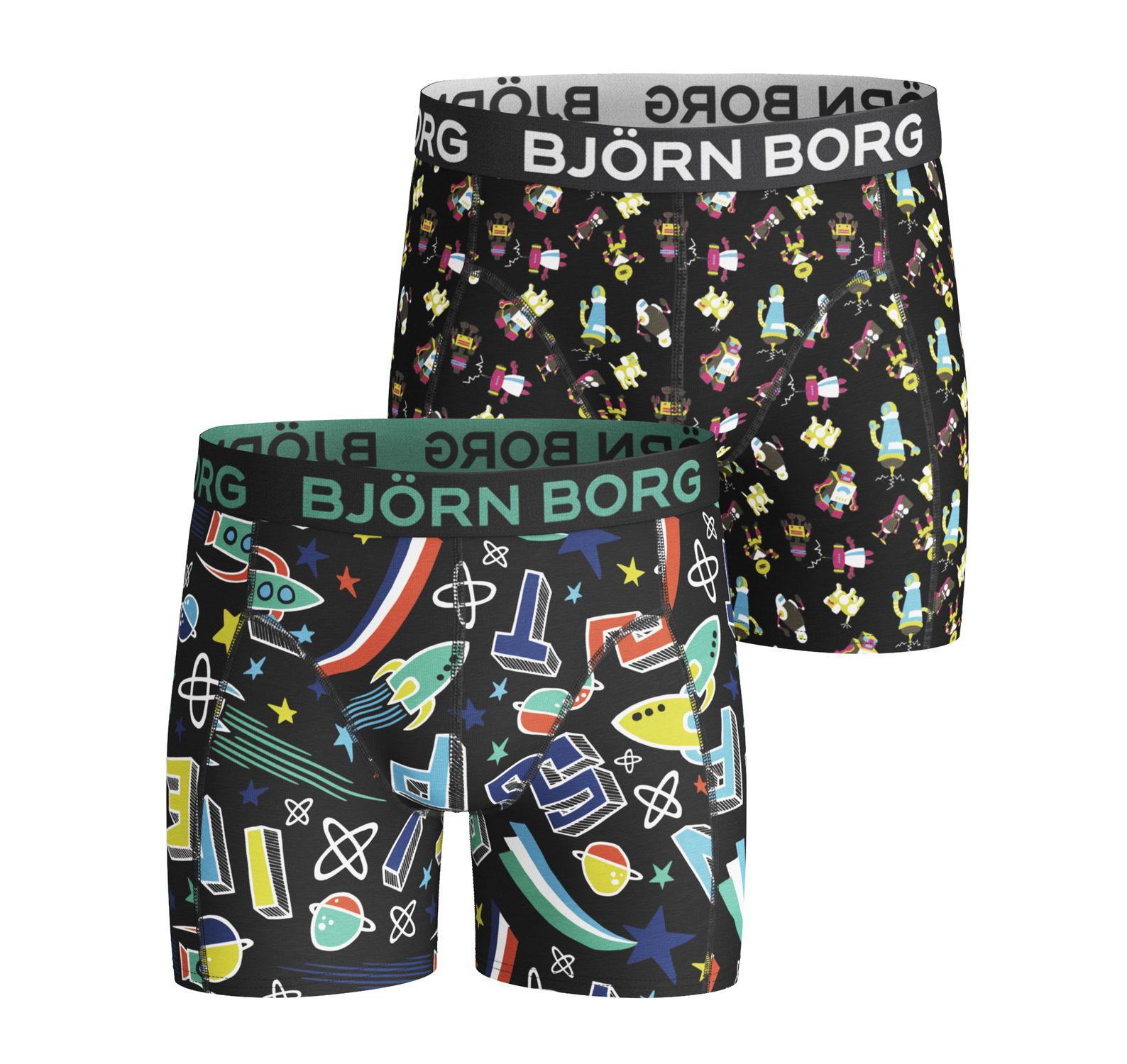 2p Shorts Bb Lost & Bb Robo, Black, 170-176,  Björn Borg