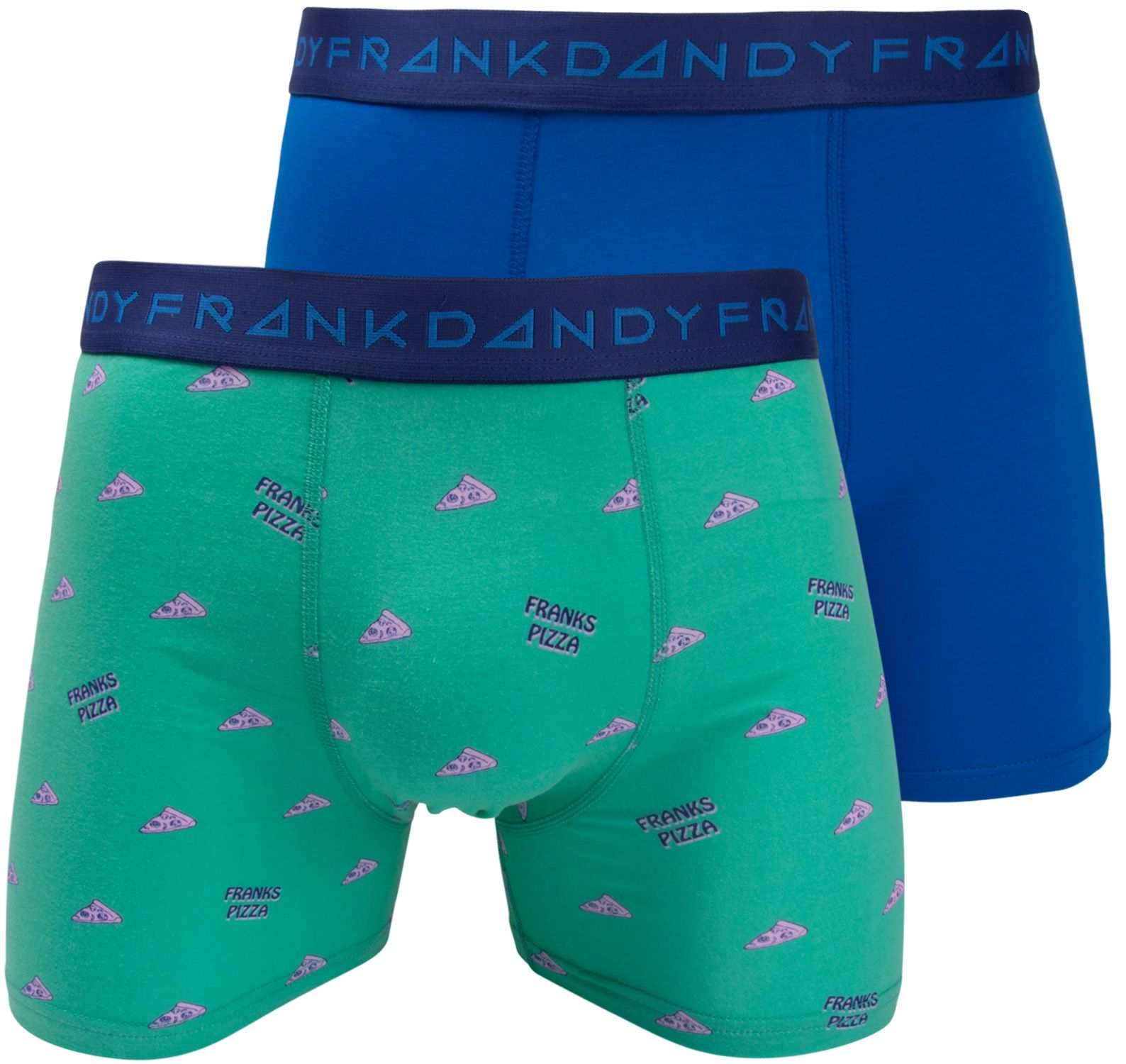 2 Pack Pizza Boxer, Clear Blue/Turquoise, Xs,  Frank Dandy