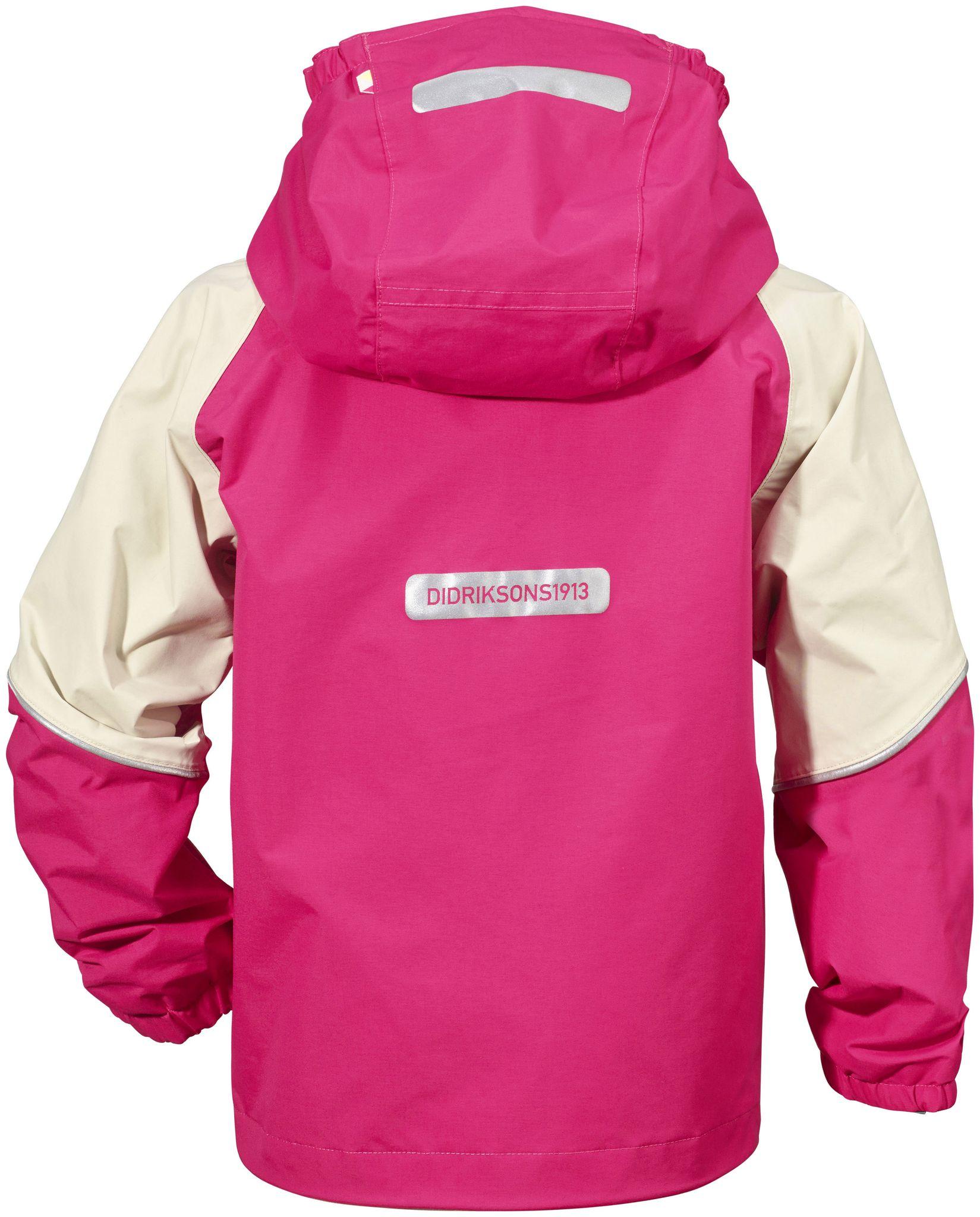 jarkos kid's jacket, fuchsia, 100, didriksons regnkläder