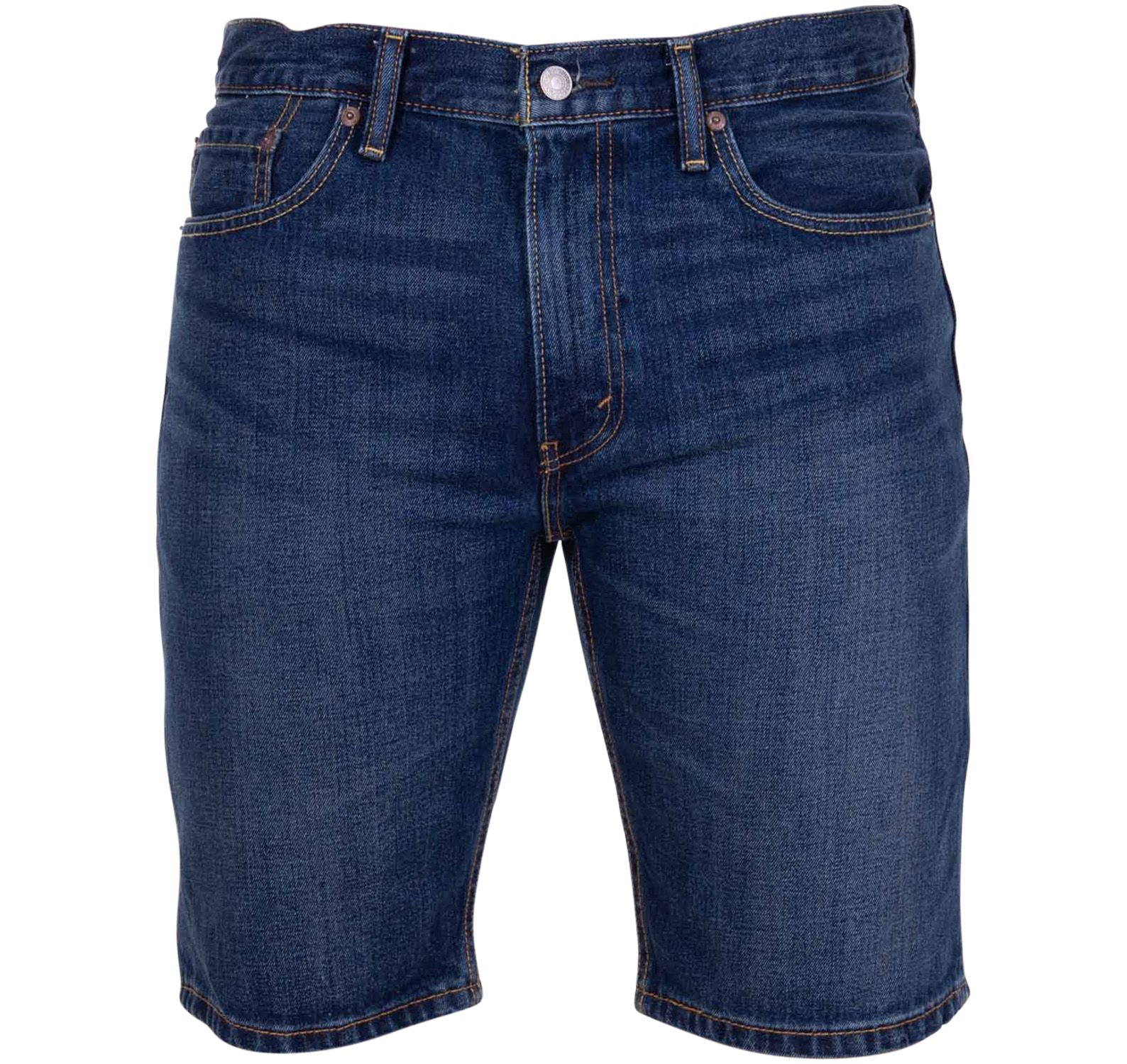 502 Taper Hemmed Short On The, Dark Indigo - Worn In, 31,  Levis