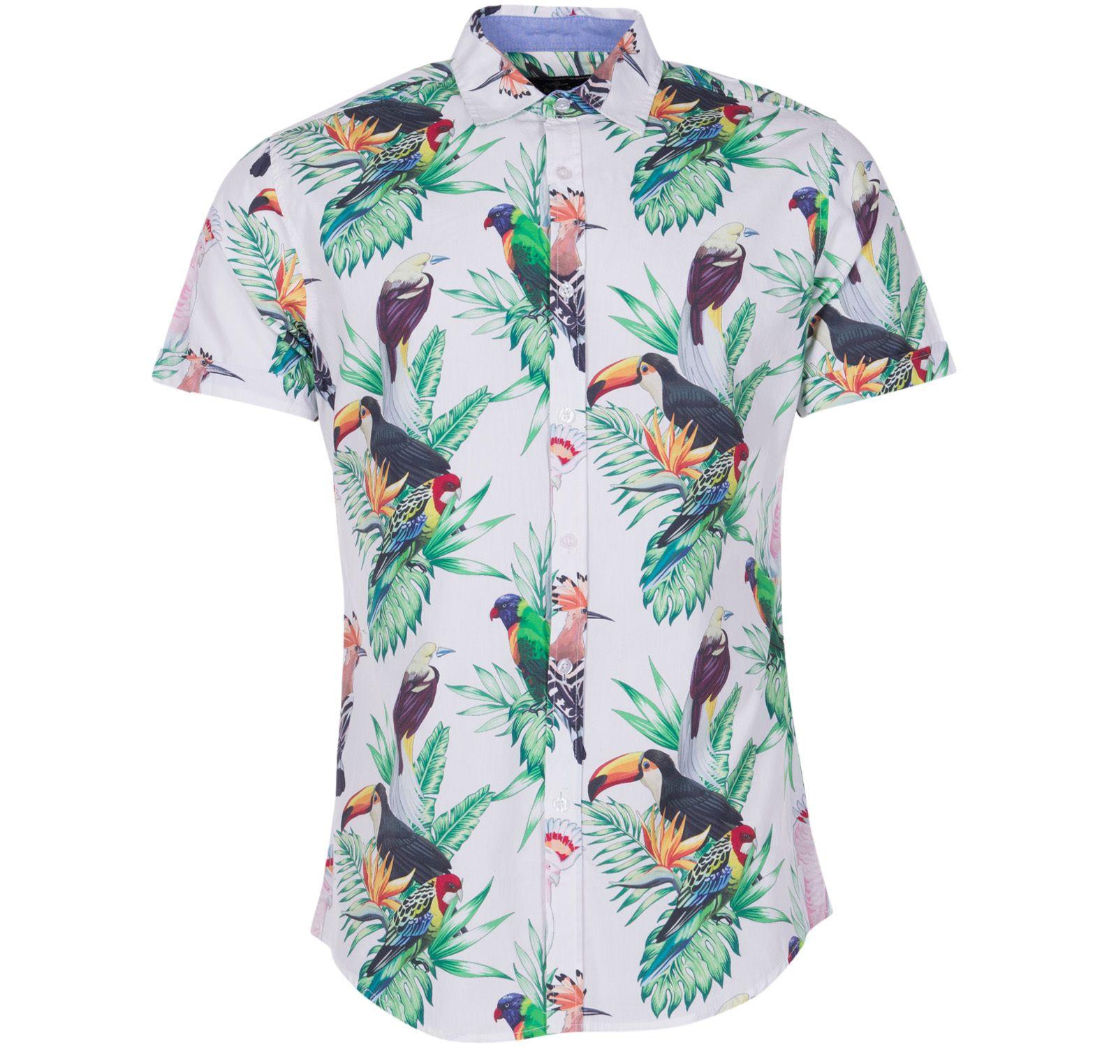 hawaii white kakadua s/s, white, xs, pool