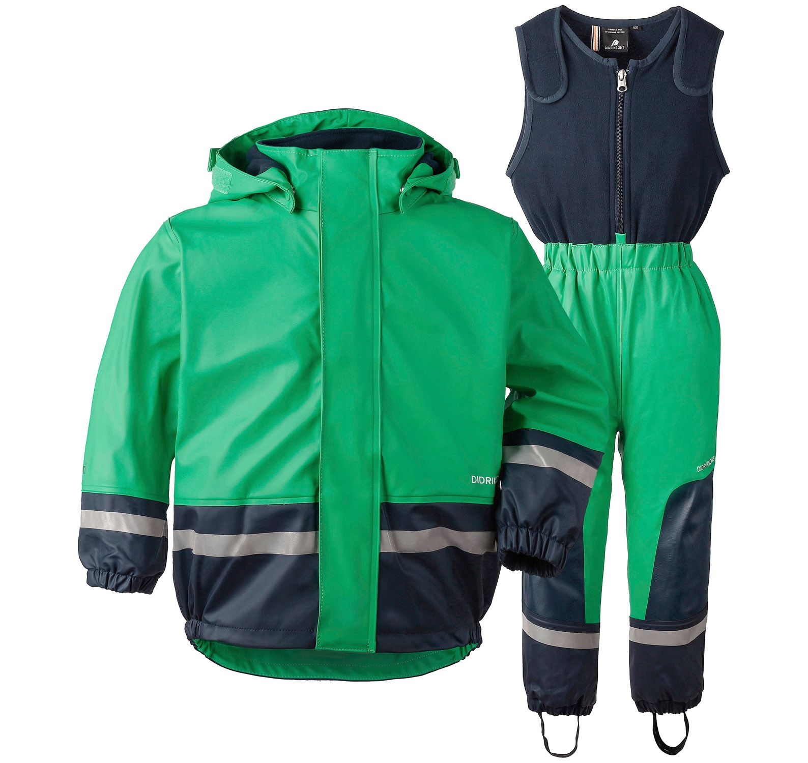 boardman kid's set, bright green, 100, didriksons regnkläder