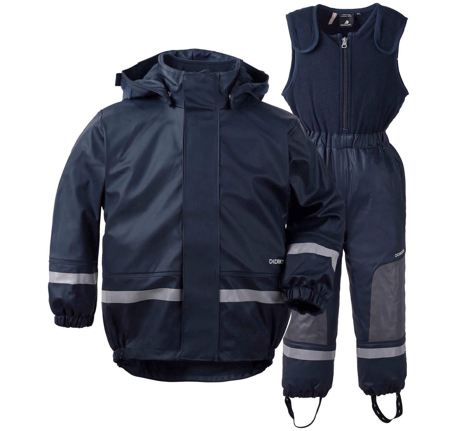 boardman kid's set, navy, 80, didriksons regnkläder