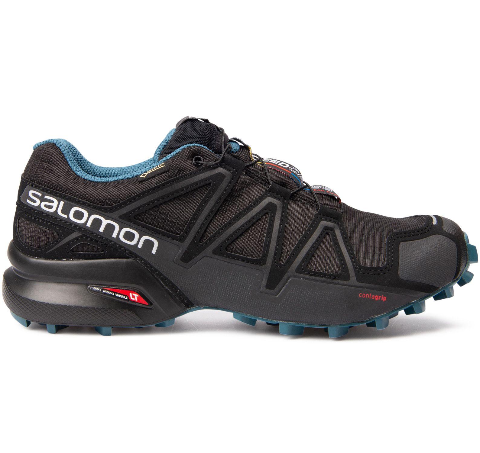 speedcross 4 gtx® nocturne 2, black / black / mallard blue, 38