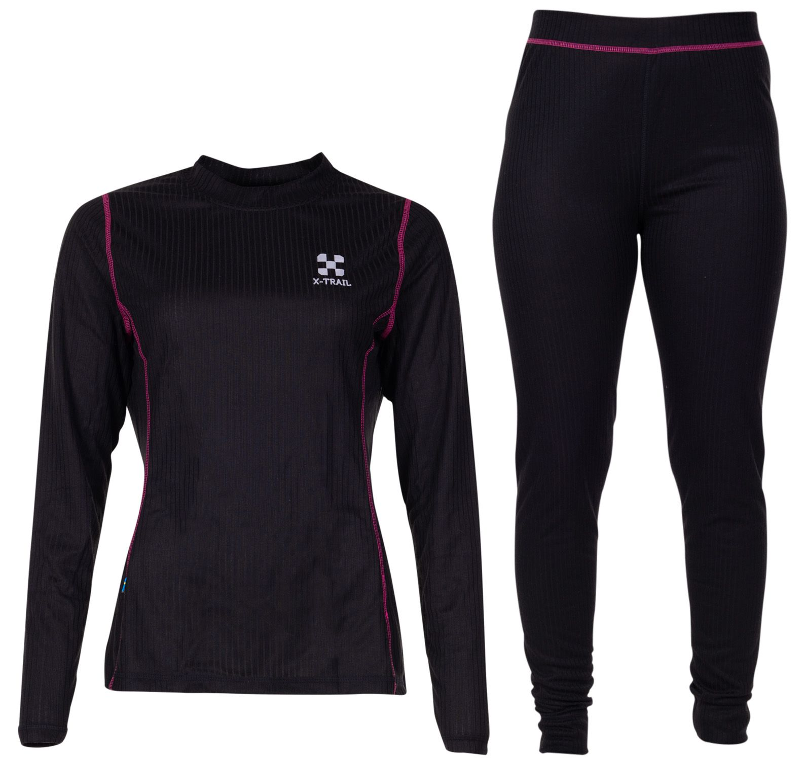 Active Layer 1 Set W, Black/Fresh Pink, 34,  X-Trail