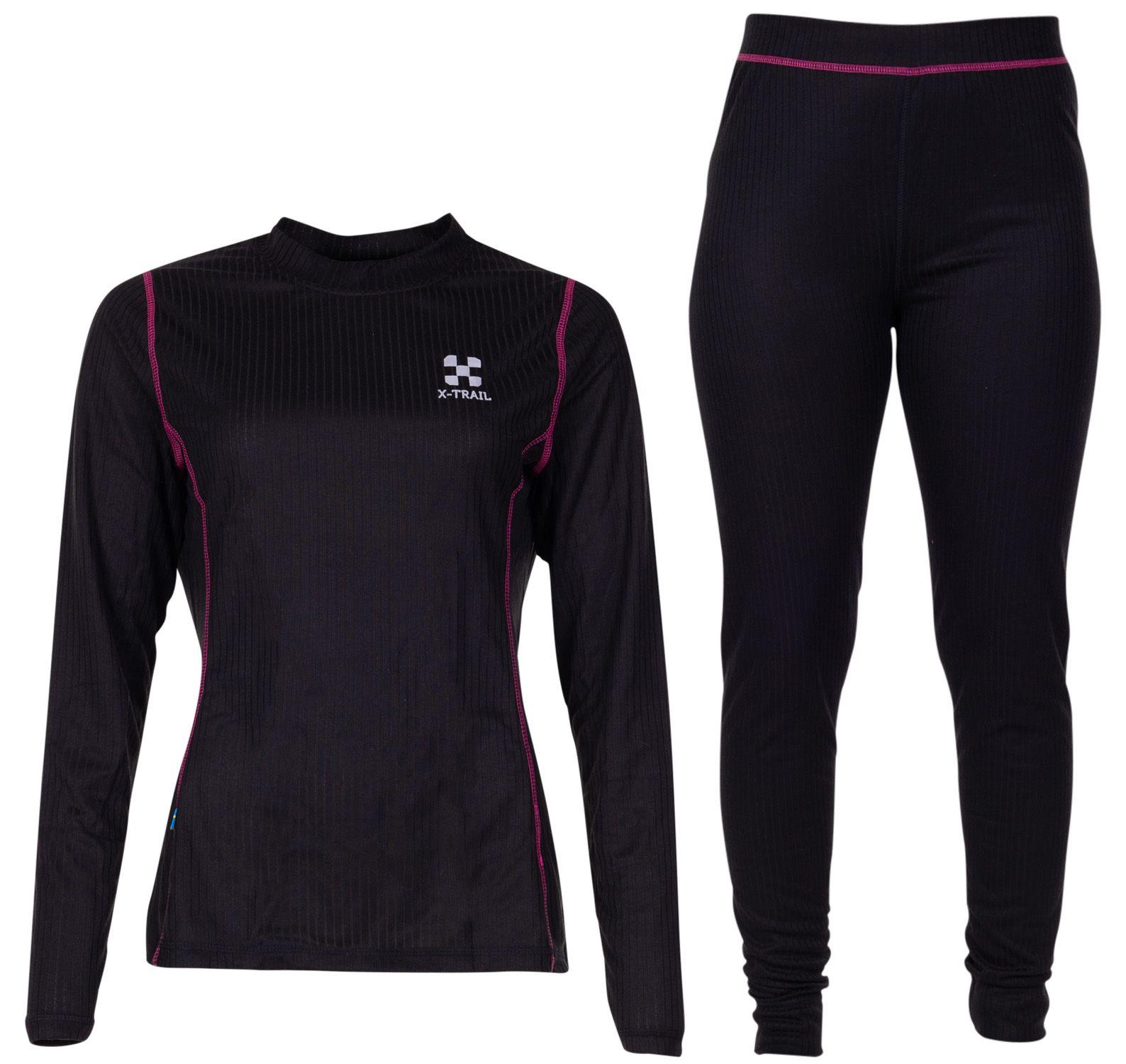 active layer 1 set w, black/fresh pink, 36,  underställ