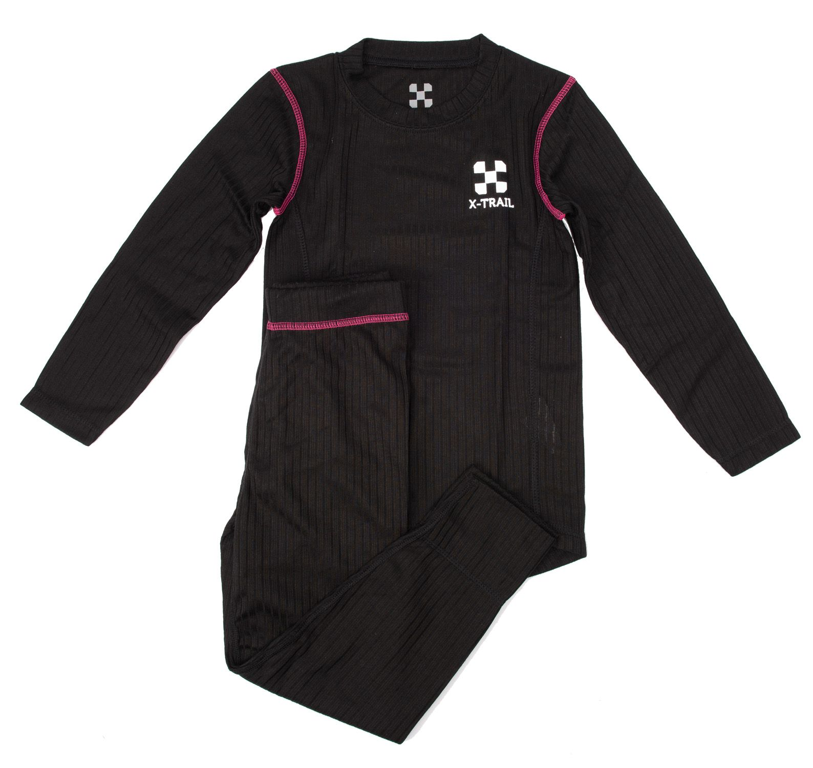 Active Layer 1 Set Infant, Black/Fresh Pink, 100,  X-Trail