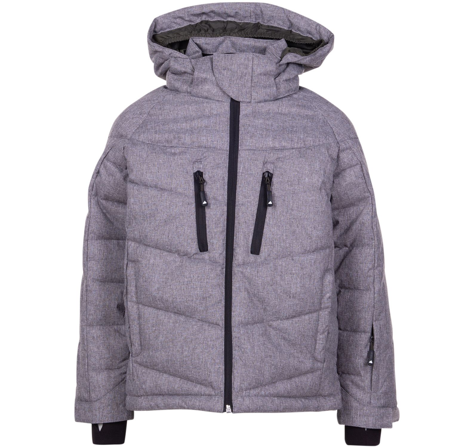 klappen 2.0 jacket, lt grey/dk olive, 120,  tuxer