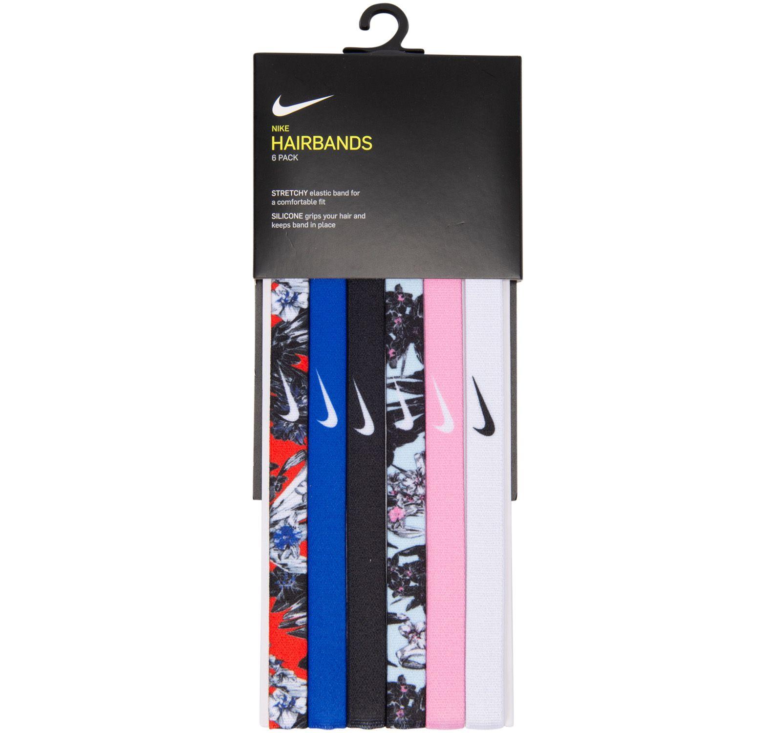 Nike Printed Headbands 6pk, Team Orange/Lt Racer Blue/Blac, Onesize,  Nike