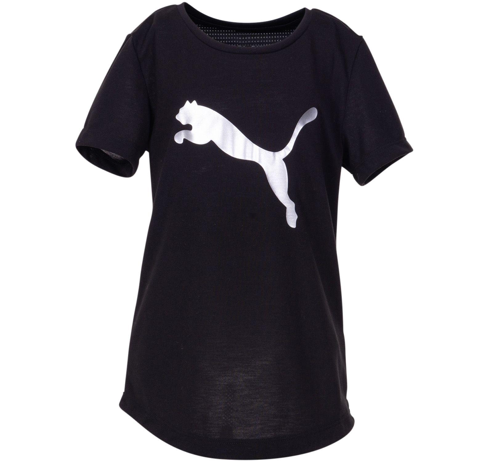 Active Sports Tee G, Puma Black-Metallic Silver, 116,  Puma