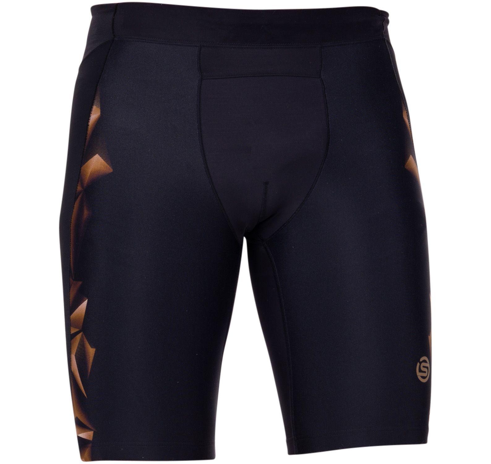 a400 mens 1/2 tights, black/gold, xs,  skins
