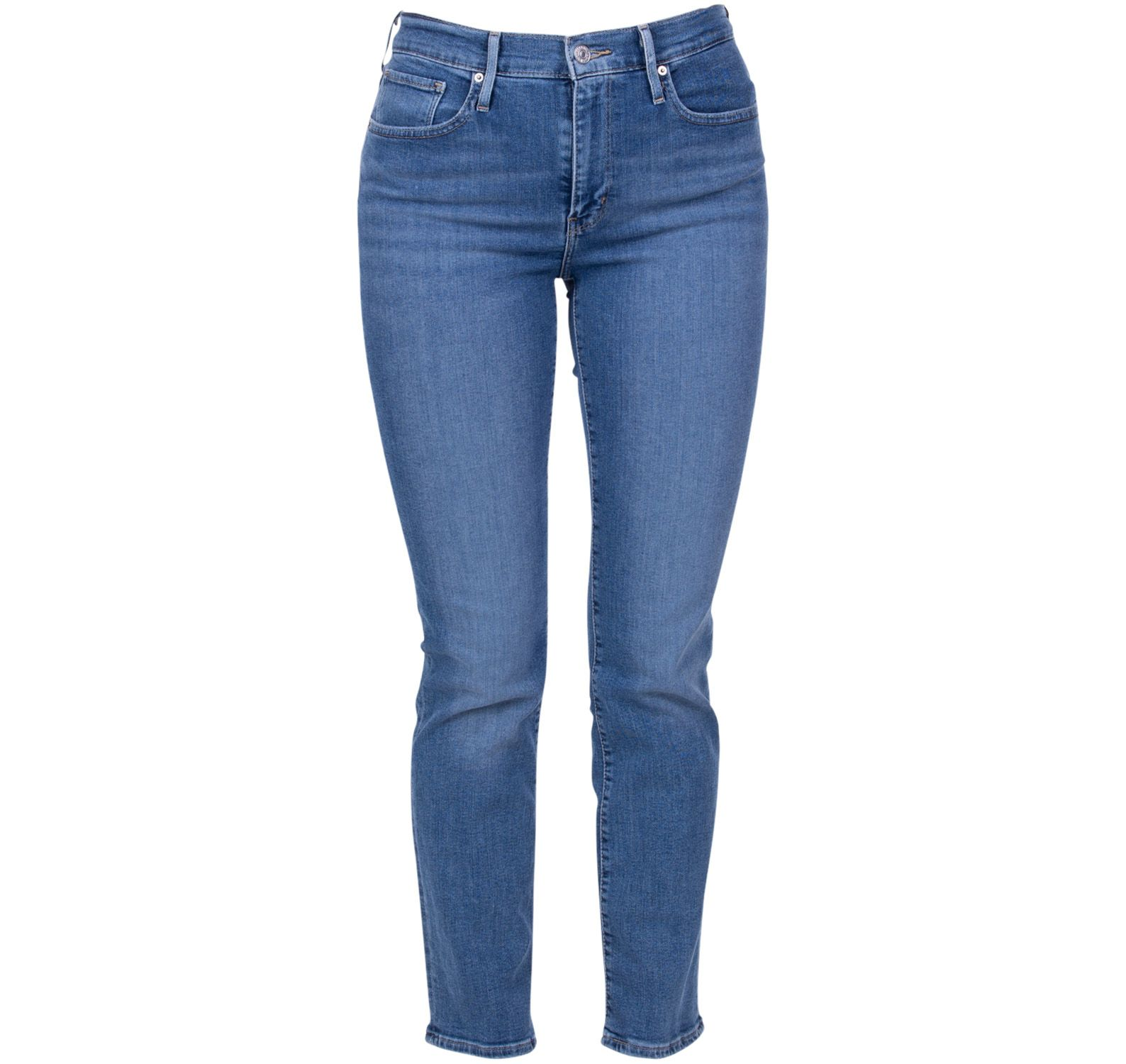 724 high rise straight second, med indigo - worn in, 25/32,  levi's jeans
