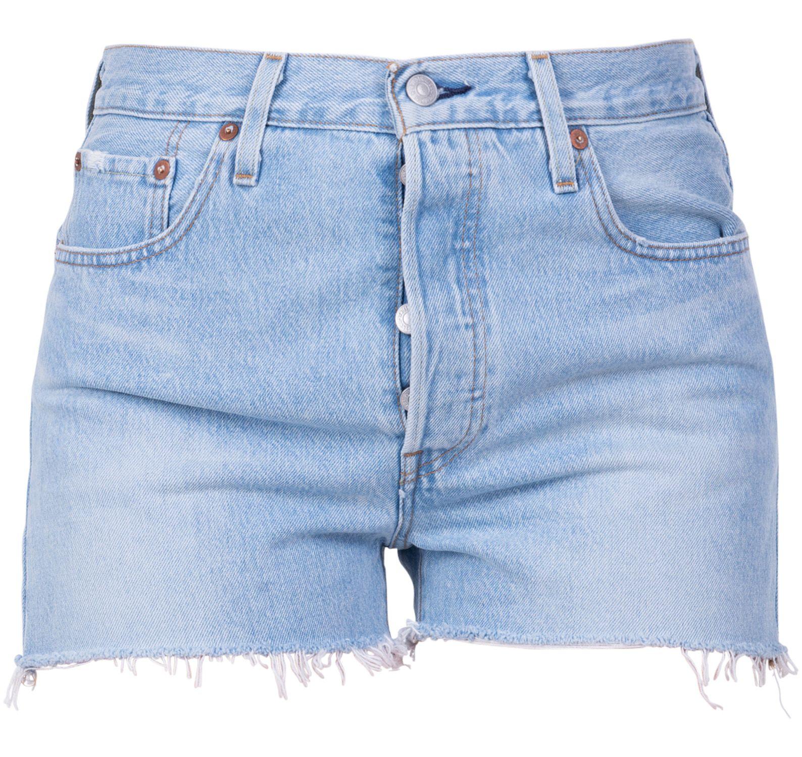 501 high rise short weak in th, light indigo - worn in, 30,  levi's jeans