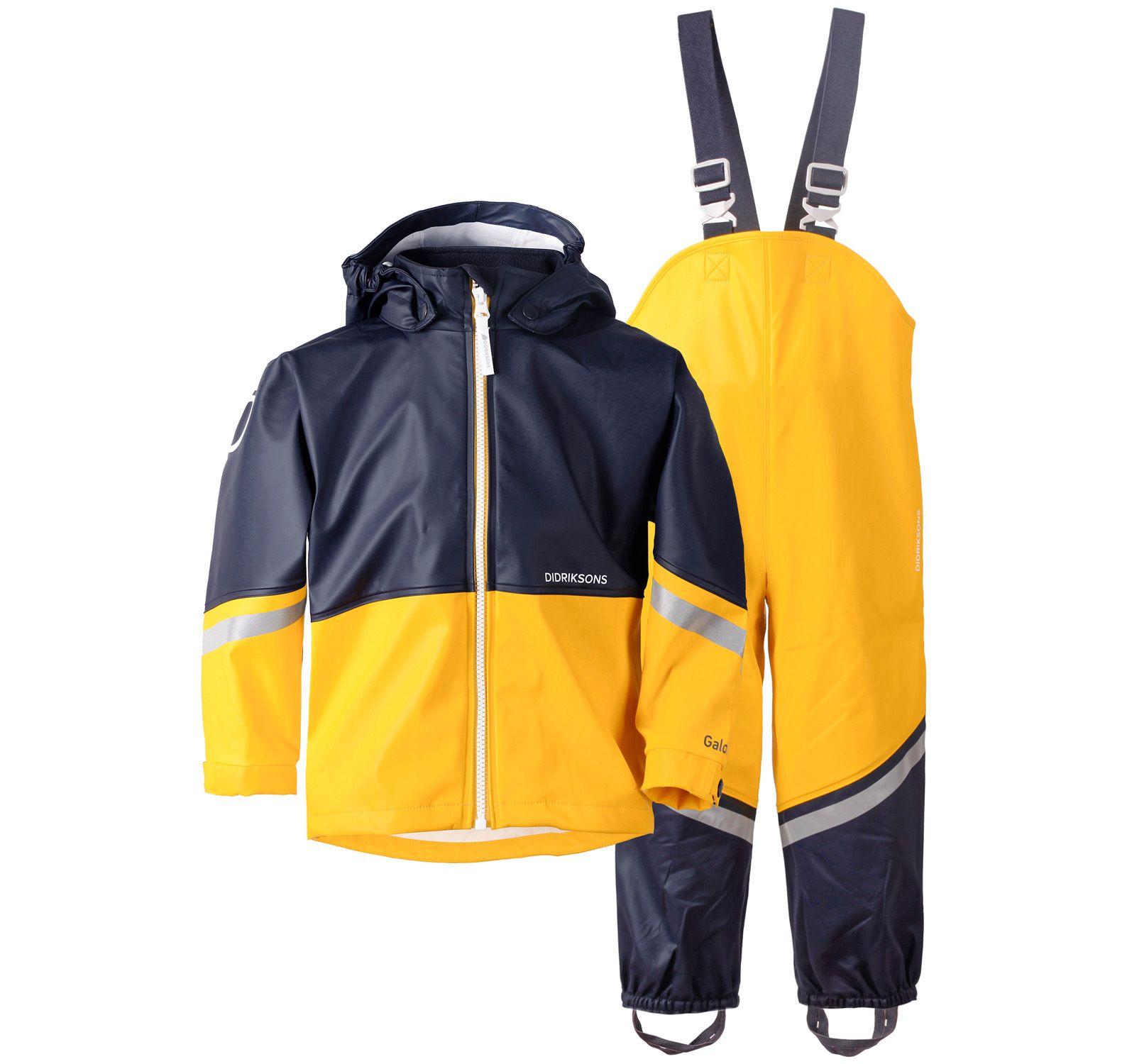 waterman kids set 3, yellow, 90, didriksons regnkläder