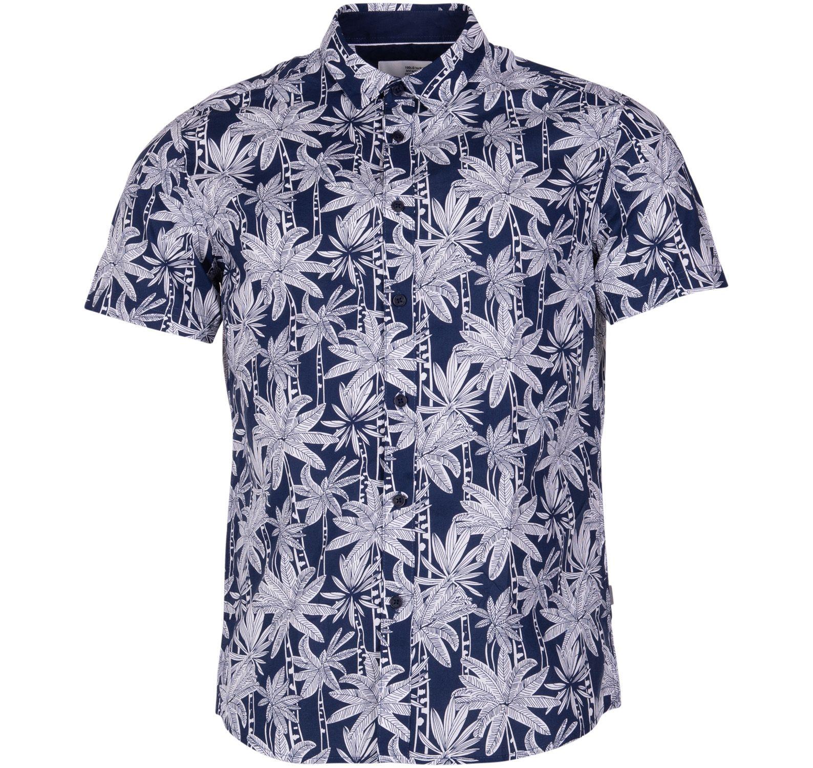 shirt - banks aop ss, insignia b, s, solid