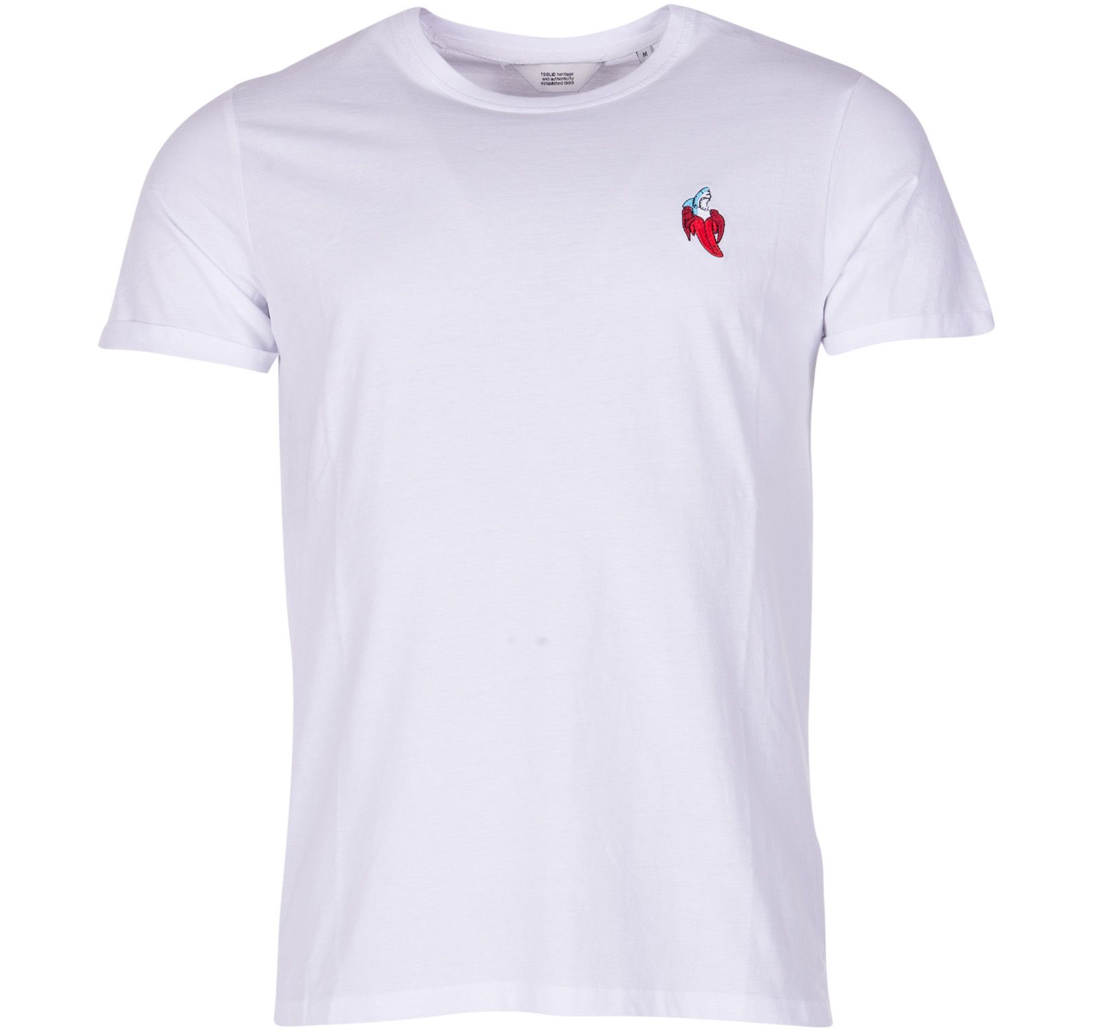 t-shirt - brenden, white, m, solid