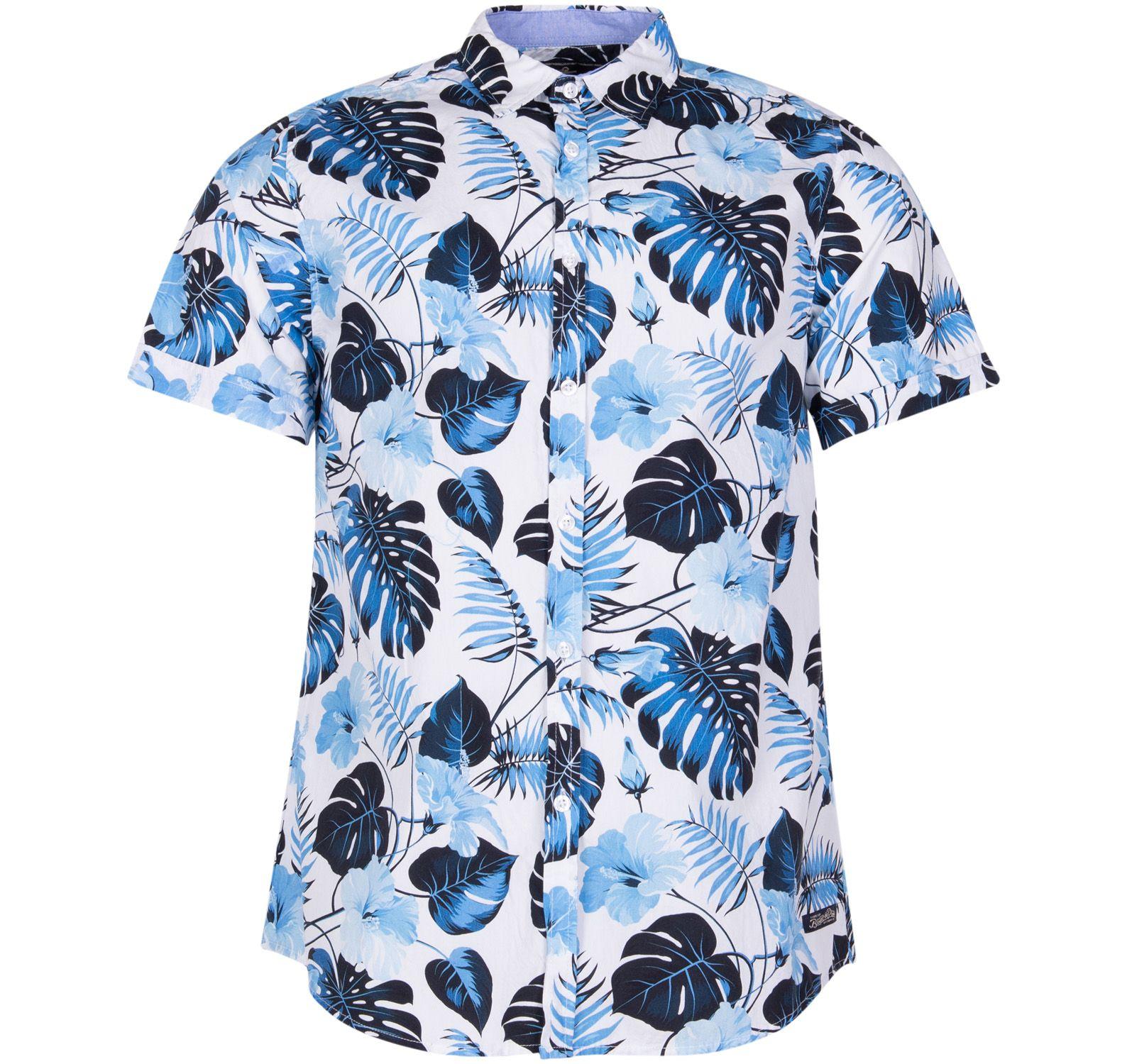 hawaii monstrea shirt s/s, white, 2xl, pool