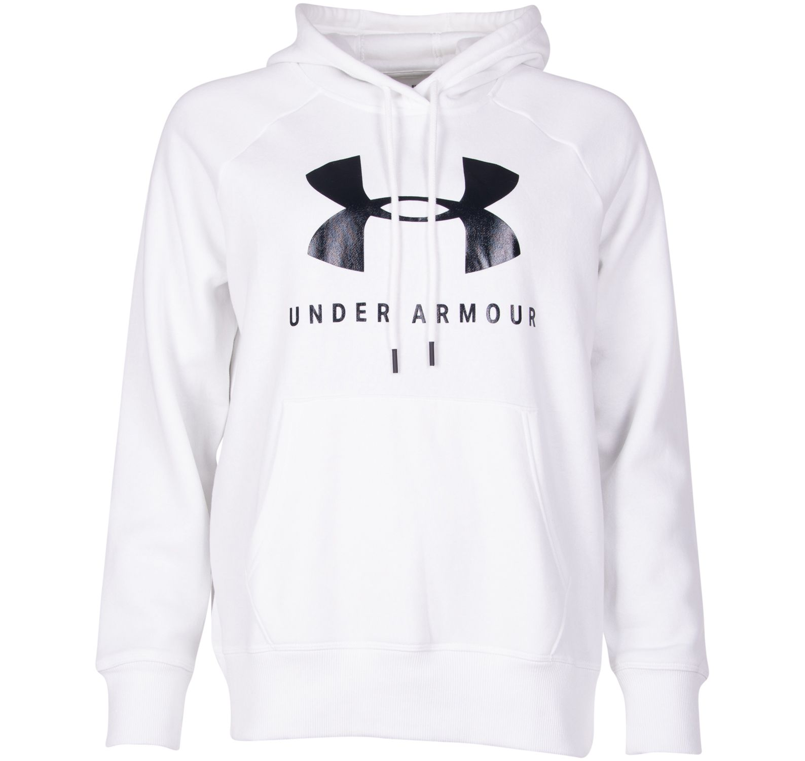 rival fleece sportstyle graphi, white, l, under armour
