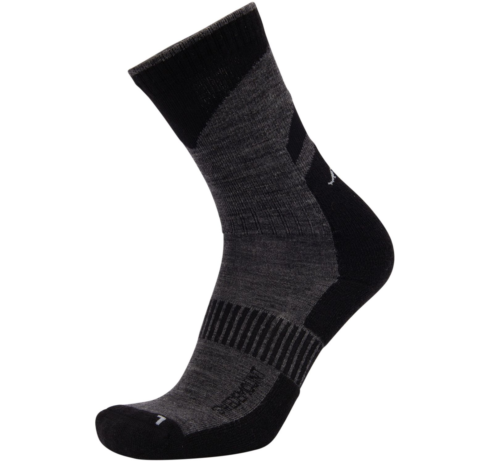 Active Wool Sock, Charcoal/Black, 43-45,  Strumpor