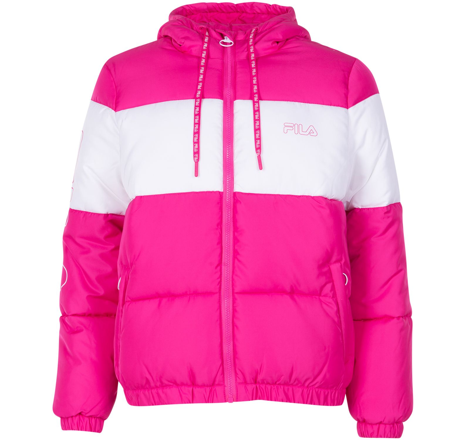 Addy Oversized Padded Jacket, Beetroot Purple, M,  Fila Dam