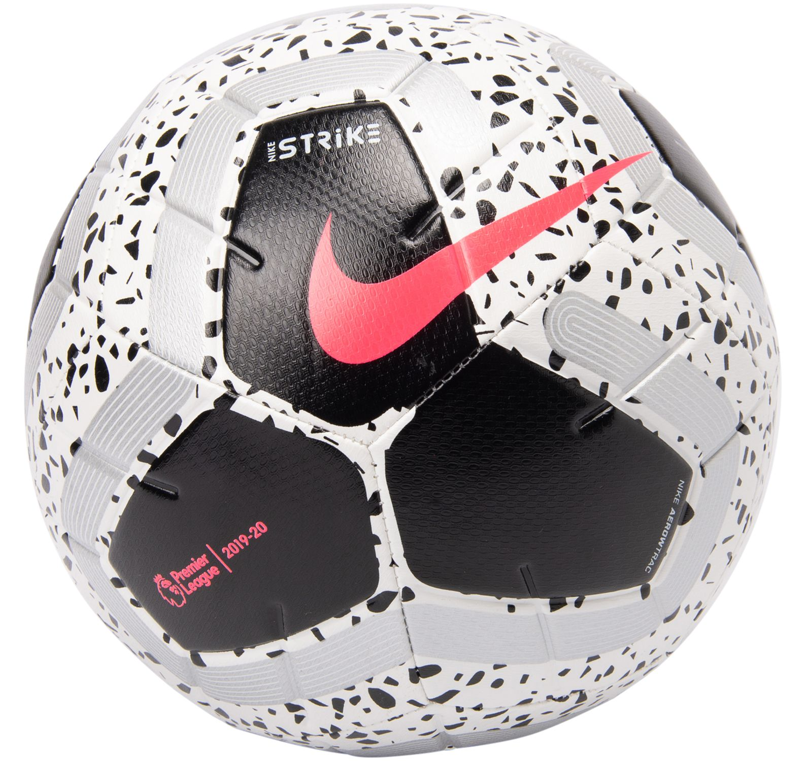 Premier League Strike Soccer B, White/Black/Black/Racer Pink, 3,  Nike
