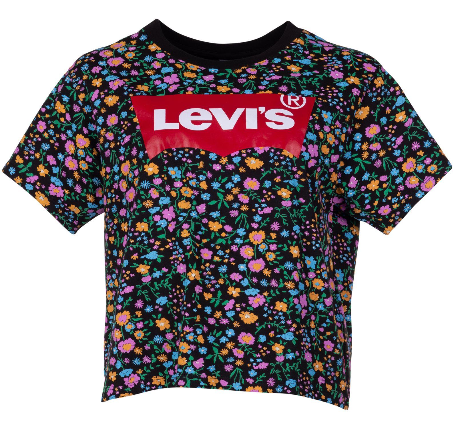 graphic varsity tee all over d, blacks, l,  levi's t-shirts