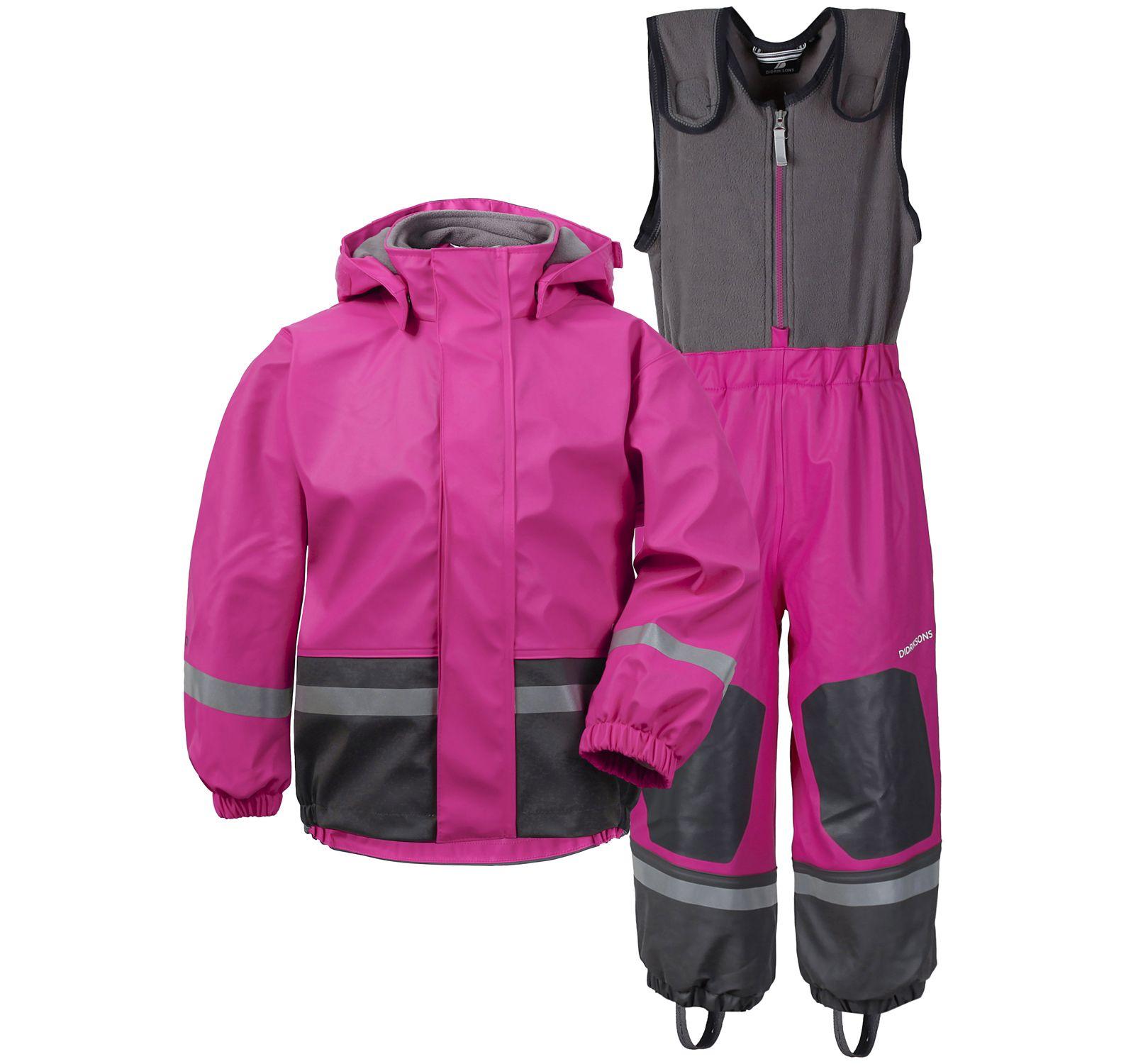 boardman kid's set 4, plastic pink, 80, didriksons regnkläder