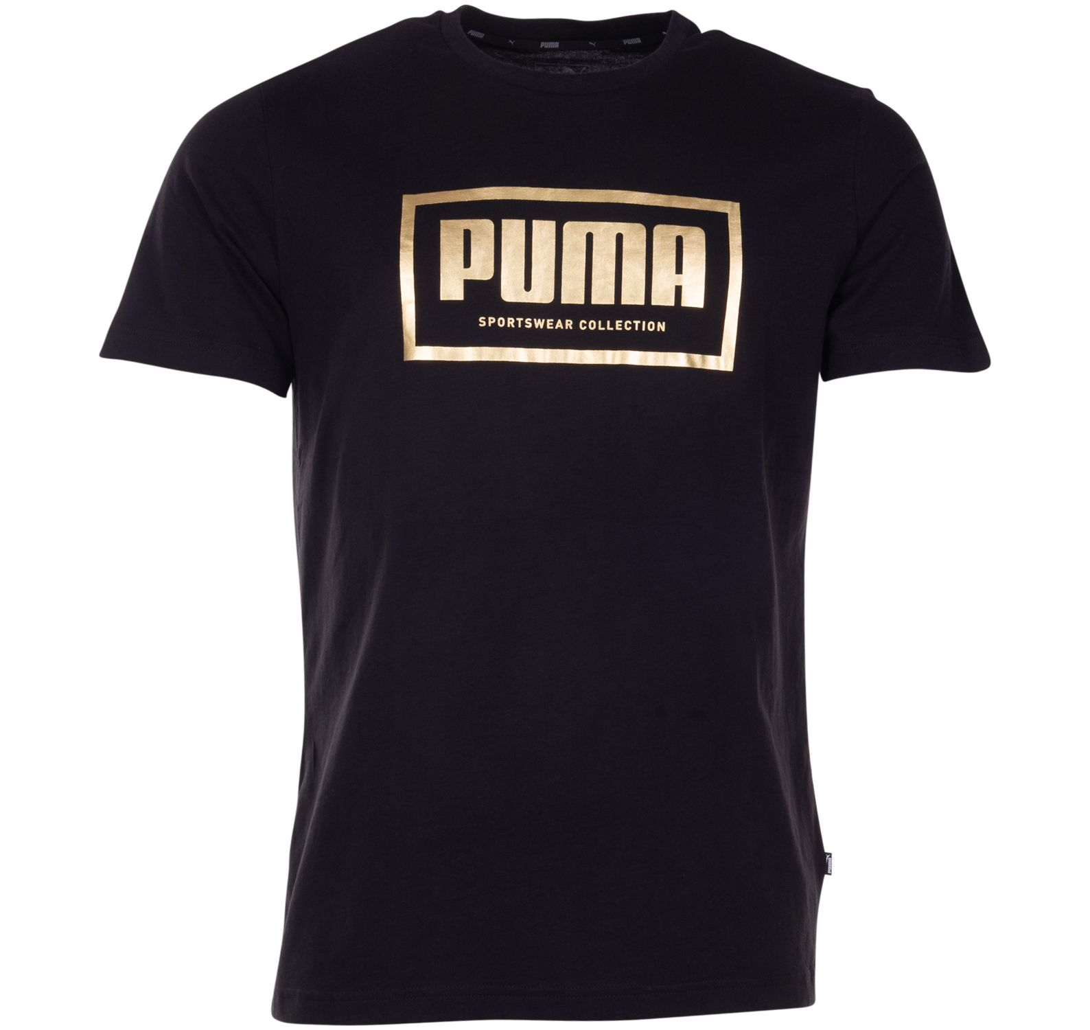 holiday pack graphic tee, cotton black, l,  puma
