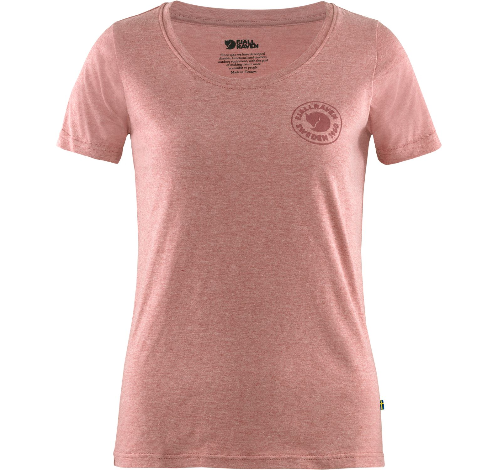 1960 Logo T-Shirt W, Raspberry Red-Melange, S,  Fjällräven