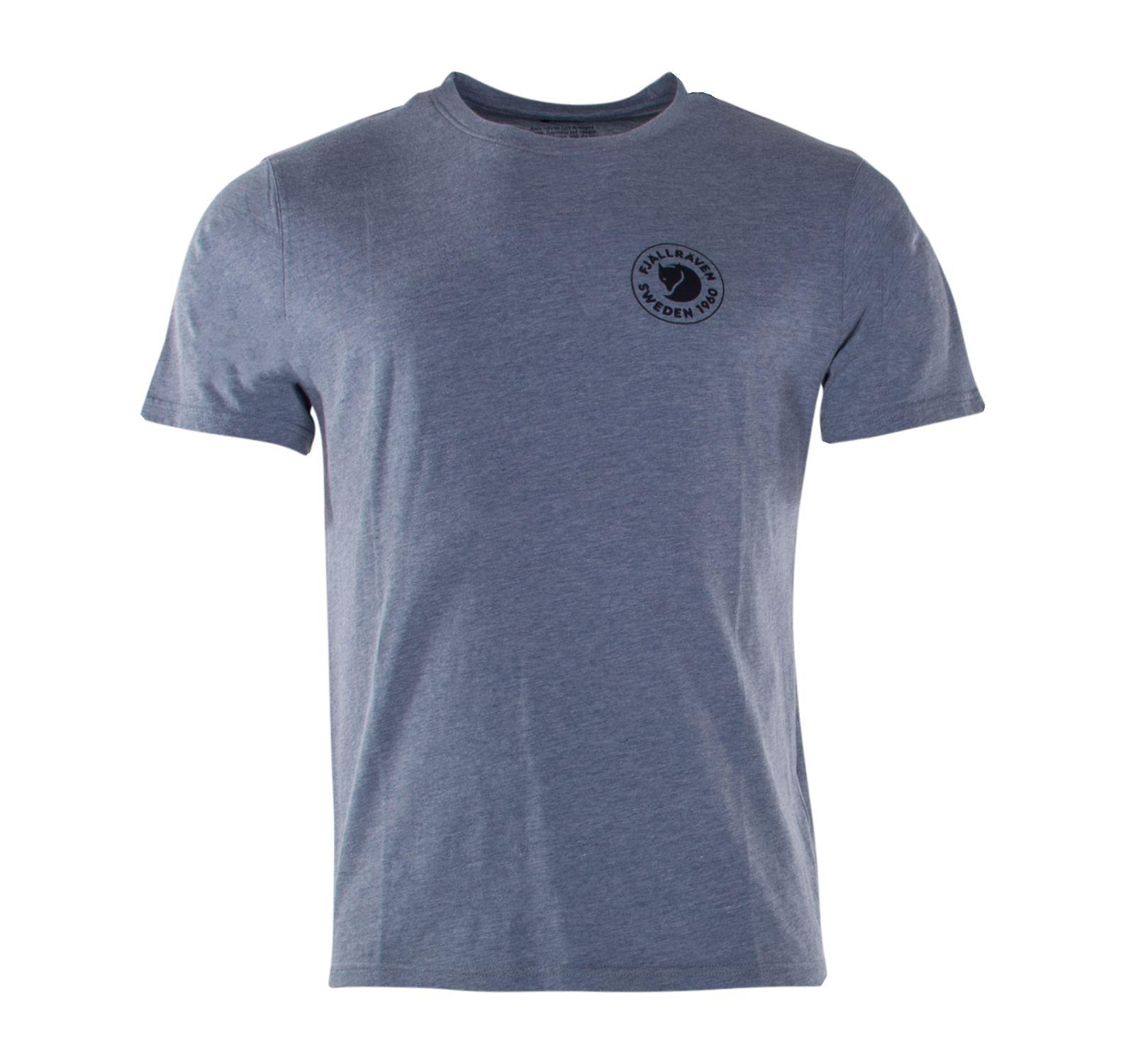 1960 Logo T-Shirt M, Uncle Blue-Melange, M,  Fjällräven