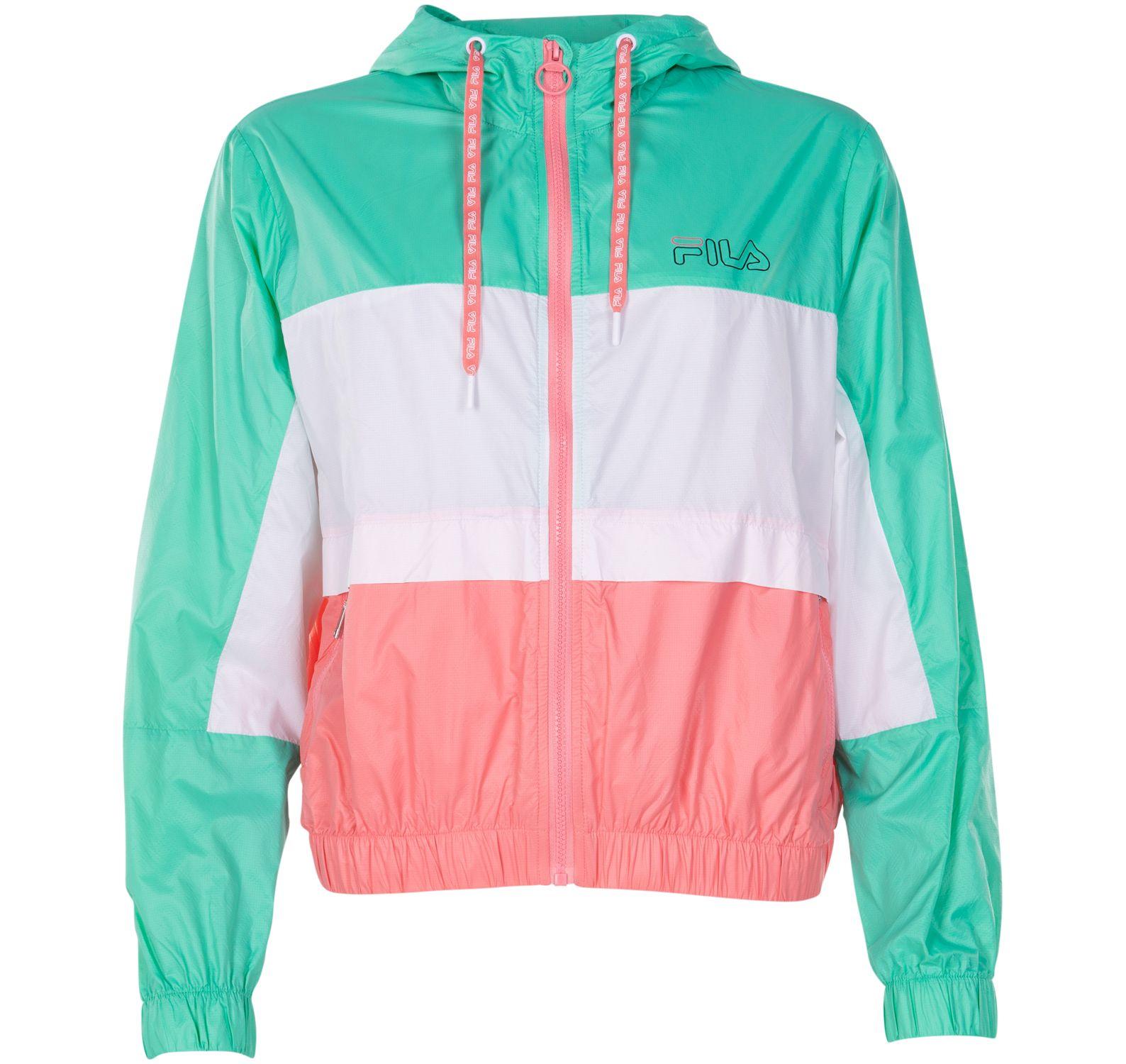 lexi wind jacket, electric greenbright whitesh, m, fila