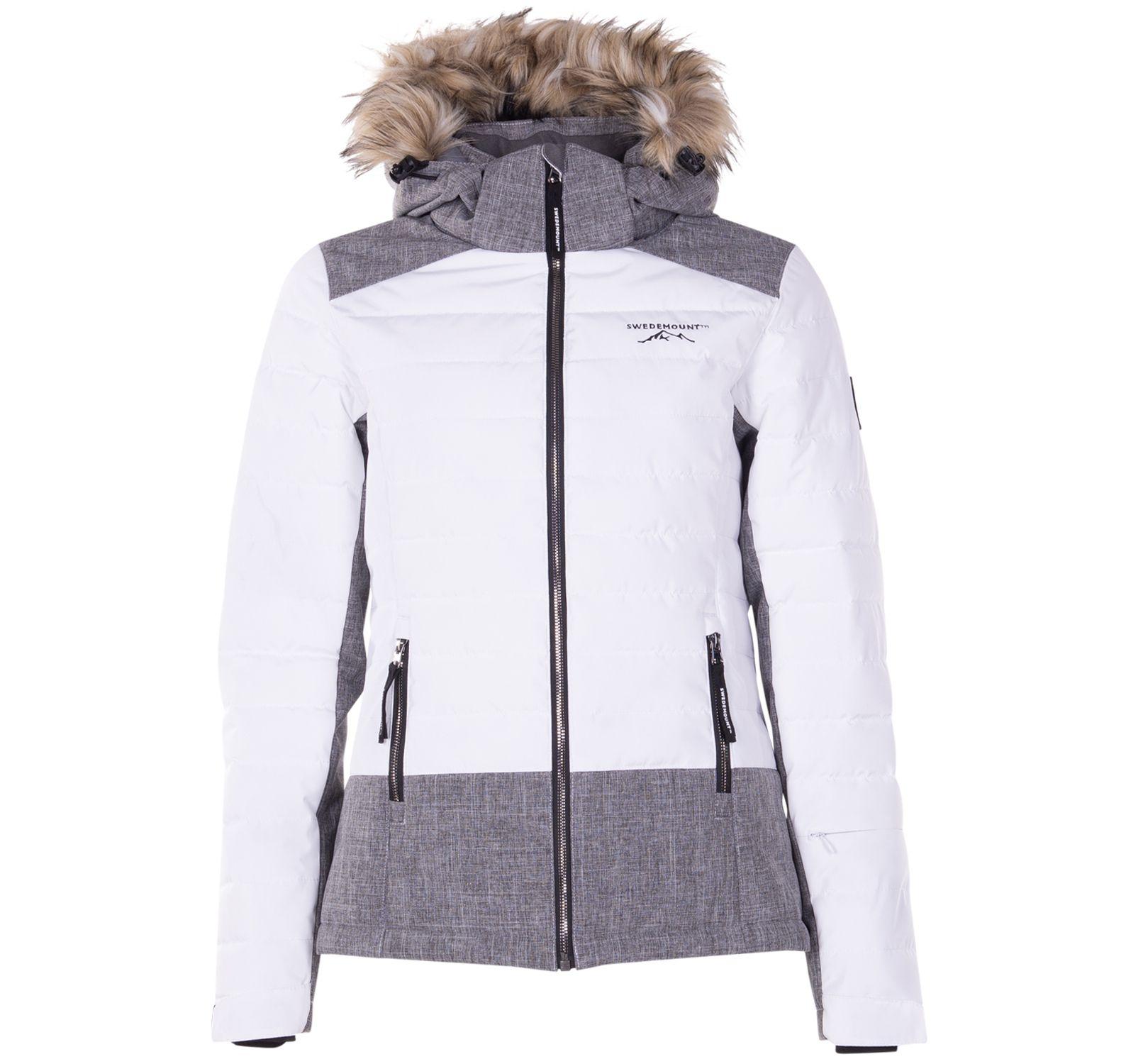 madonna jacket 2.0 w, white/dk grey melange, 38,  jackor
